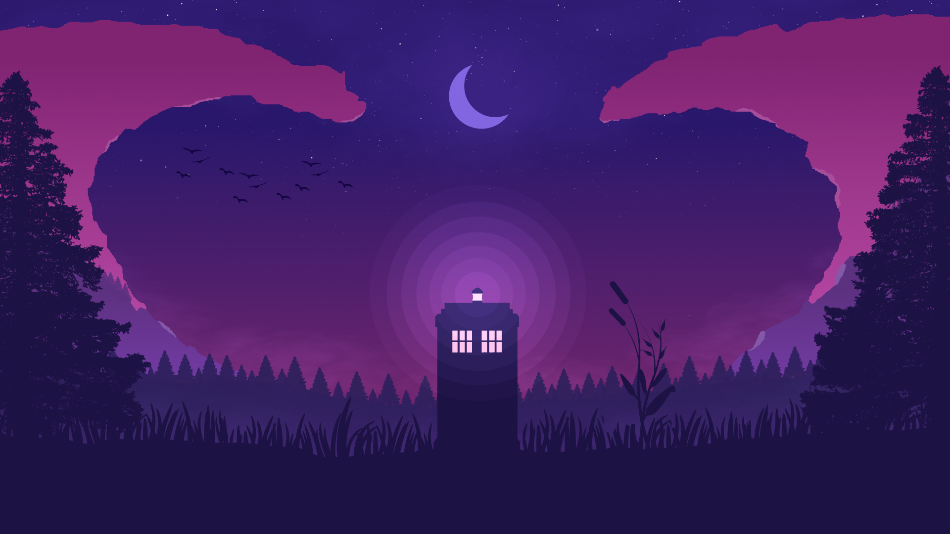 1920x1080 Doctor Who Minimal Art 1080p Laptop Full Hd Wallpaper