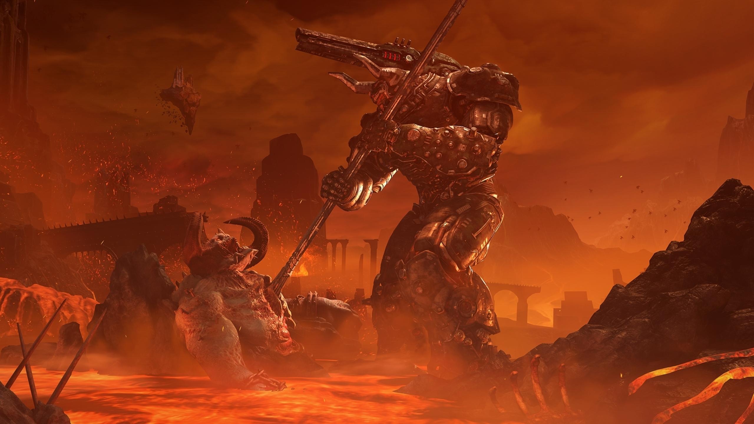 2560x1440 Doom Eternal 2020 1440p Resolution Wallpaper Hd Games