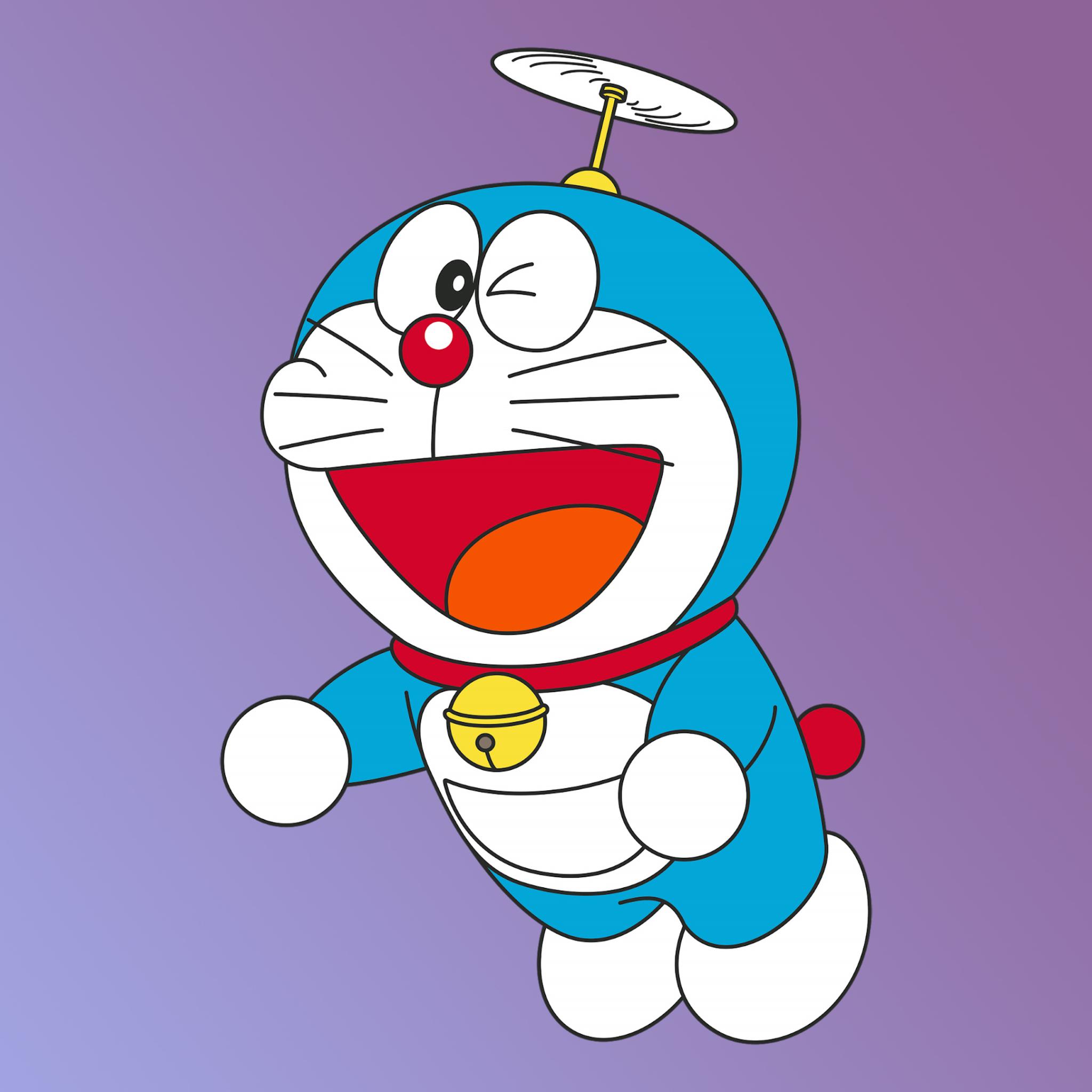 2048x2048 Doraemon Minimal 4K Ipad Air Wallpaper, HD ...