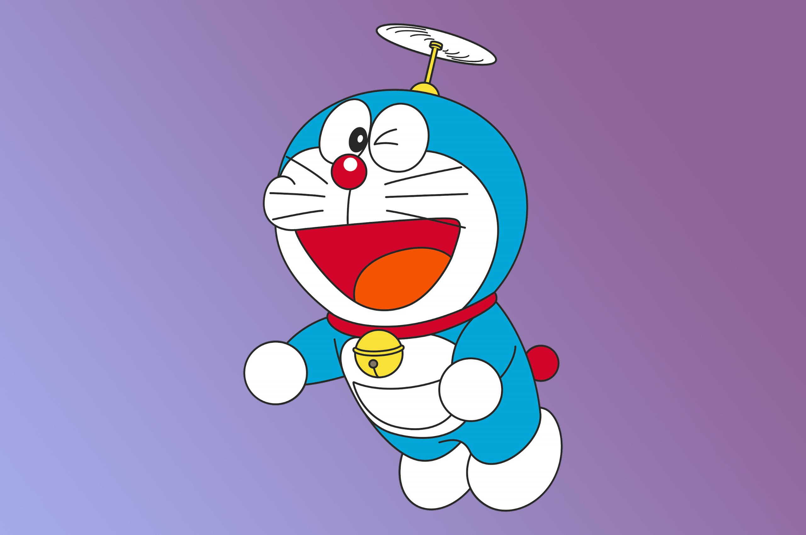 2560x1700 Doraemon Minimal 4K Chromebook Pixel Wallpaper ...