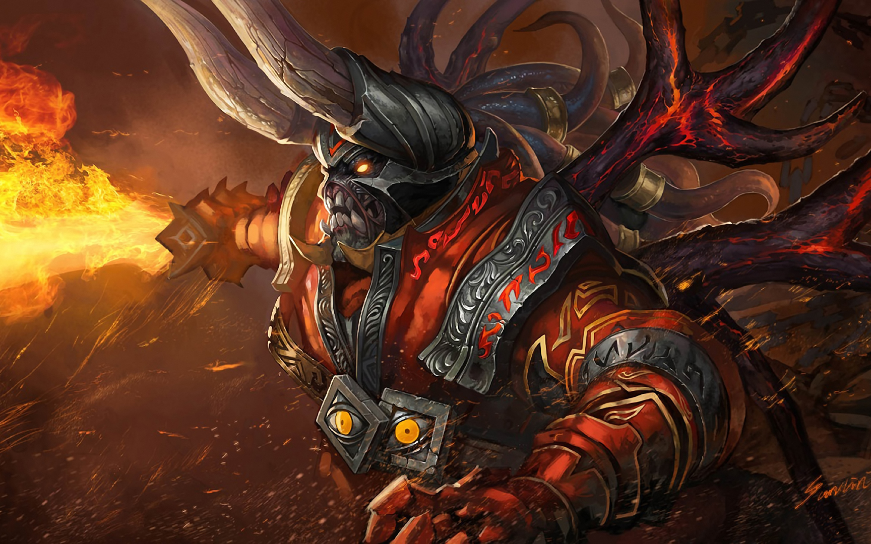 2880x1800 Dota Defense Of The Ancients Lucifer Macbook Pro
