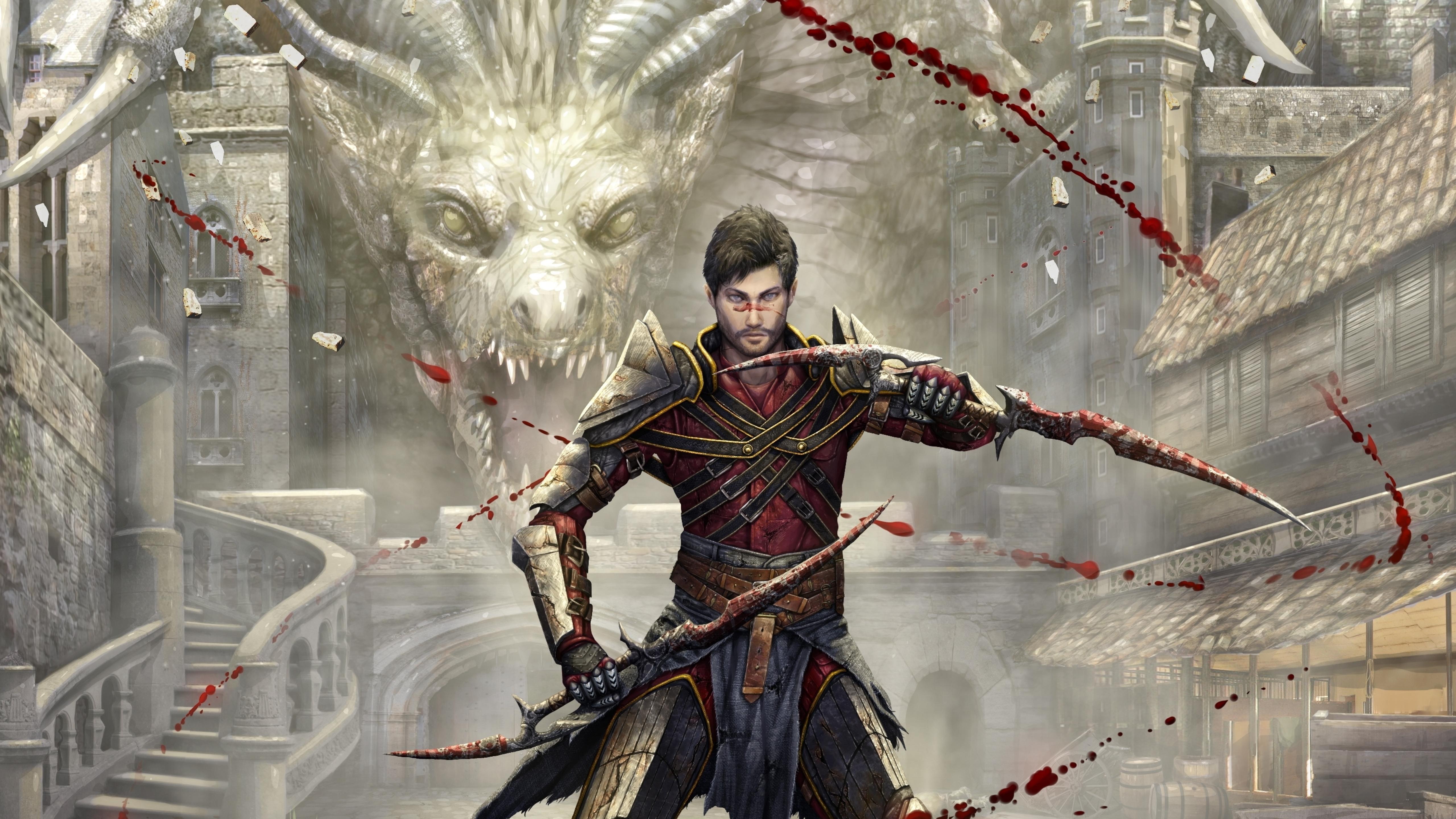 5120x2880 Dragon Age Killer Dragon 5k Wallpaper Hd Games 4k