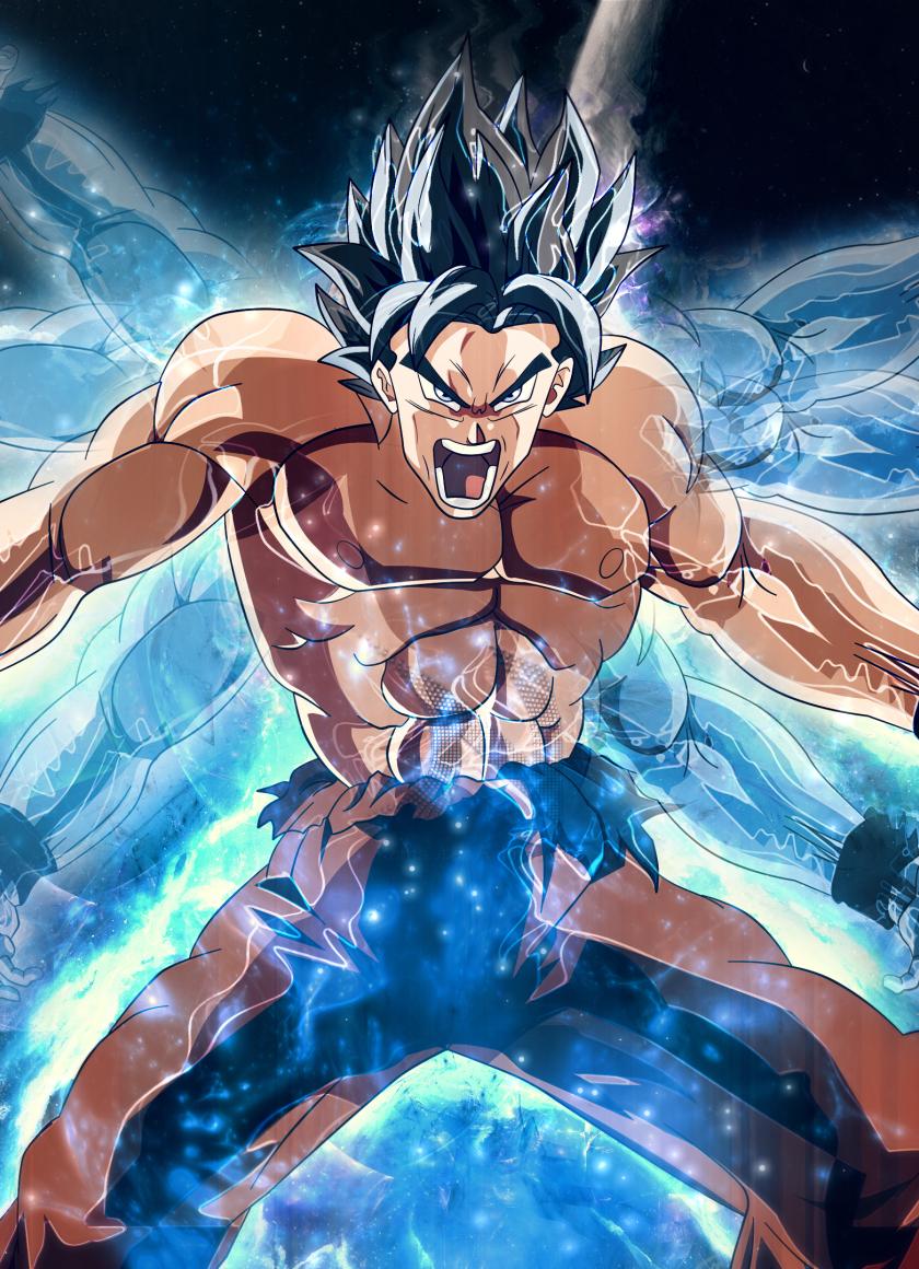 Download Dragon Ball Super Goku Angry 320x480 Resolution