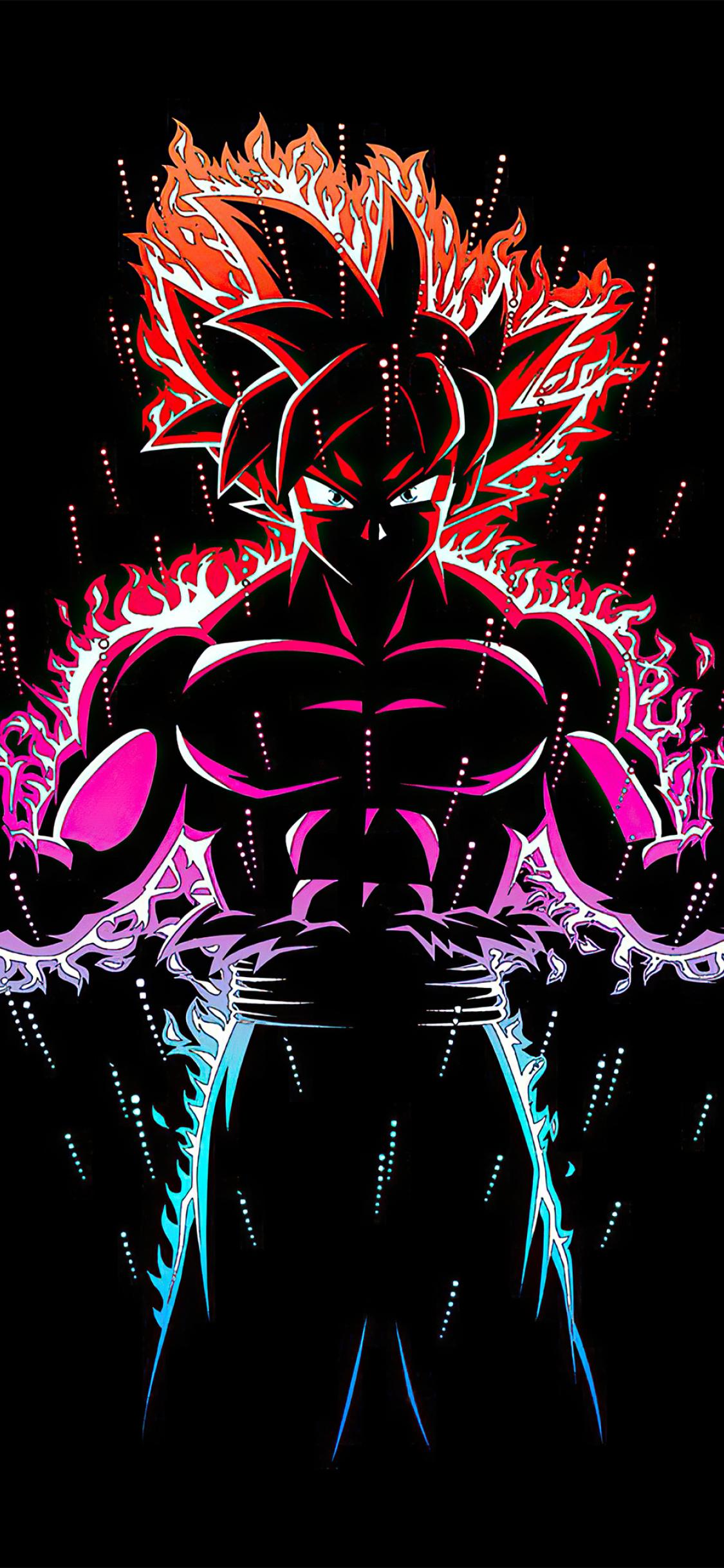 1125x2436 Dragon Ball Z Goku Ultra Instinct Fire Iphone XS ...