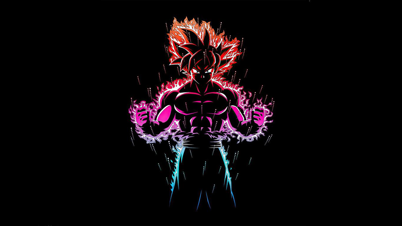 1366x768 Dragon Ball Z Goku Ultra Instinct Fire 1366x768 ...