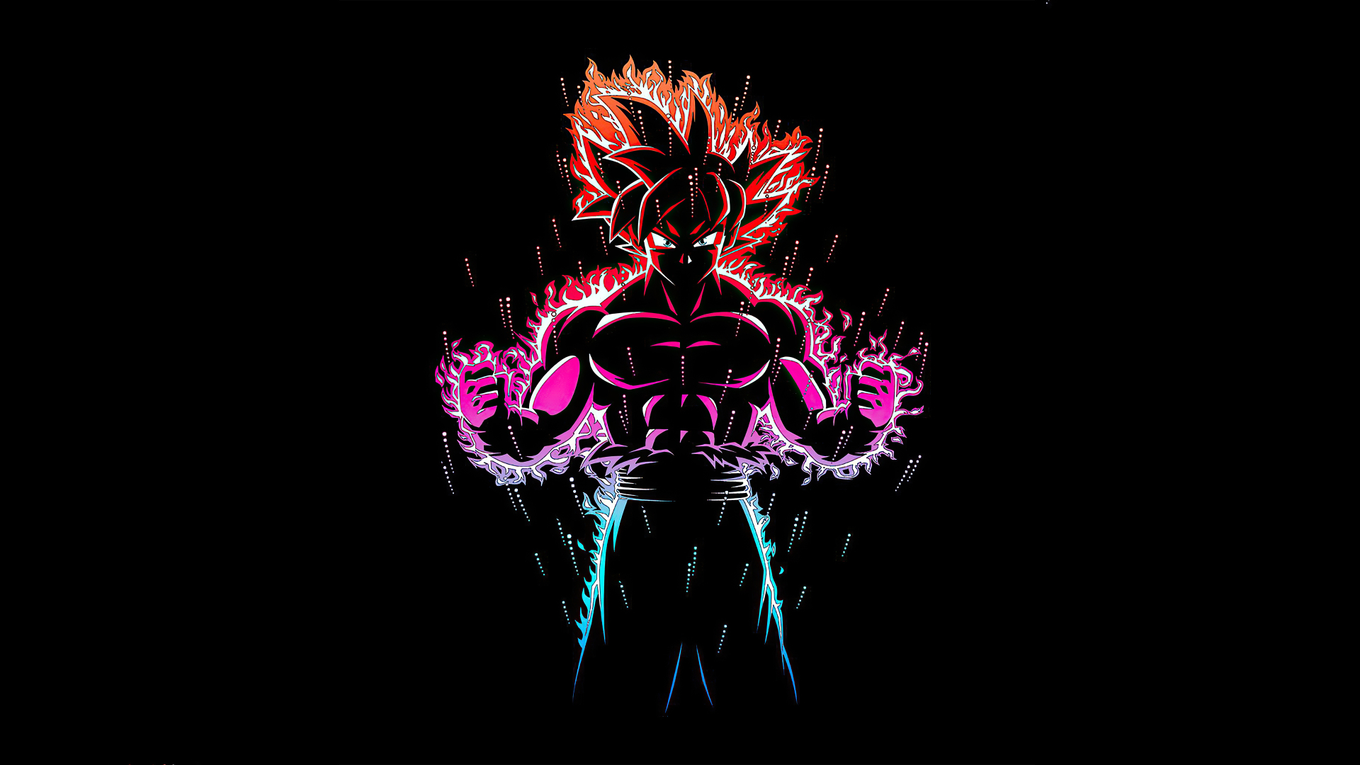 1920x1080 Dragon Ball Z Goku Ultra Instinct Fire 1080P Laptop Full HD Wallpaper, HD Anime 4K ...