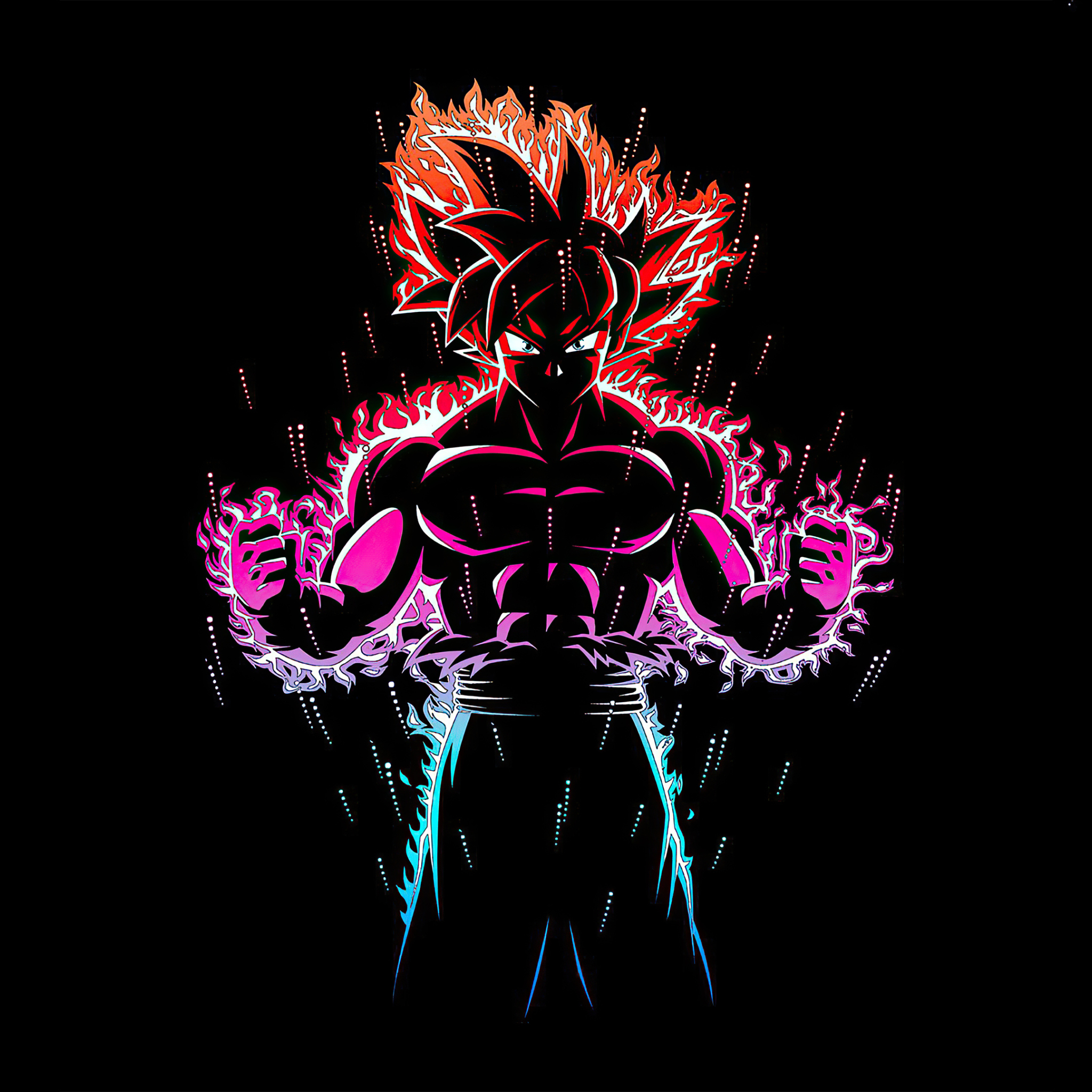 2048x2048 Dragon Ball Z Goku Ultra Instinct Fire Ipad Air Wallpaper, HD Anime 4K Wallpapers ...