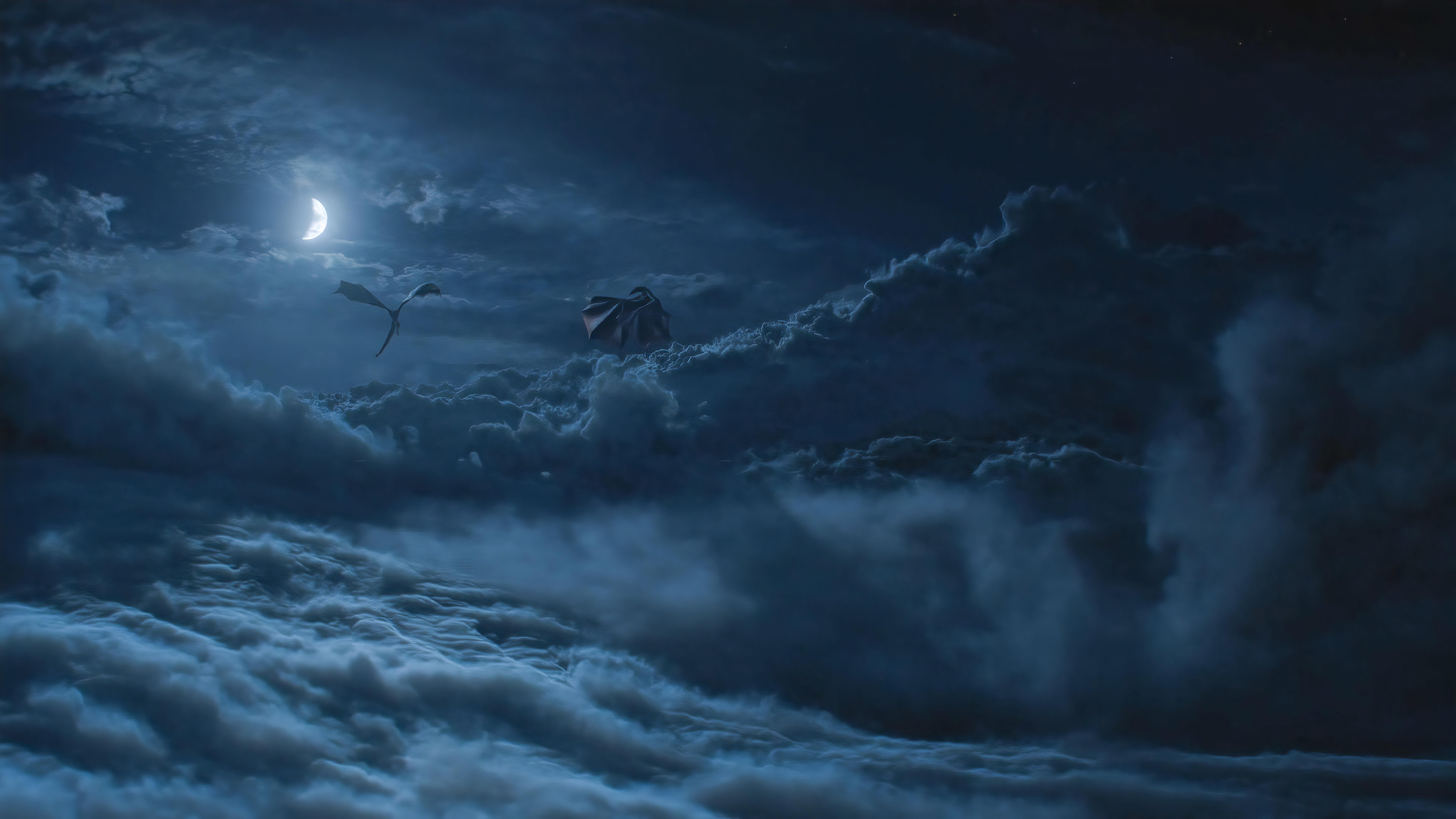 Dragons Above Cloud Game Of Throne Season 8 Wallpaper Hd Tv