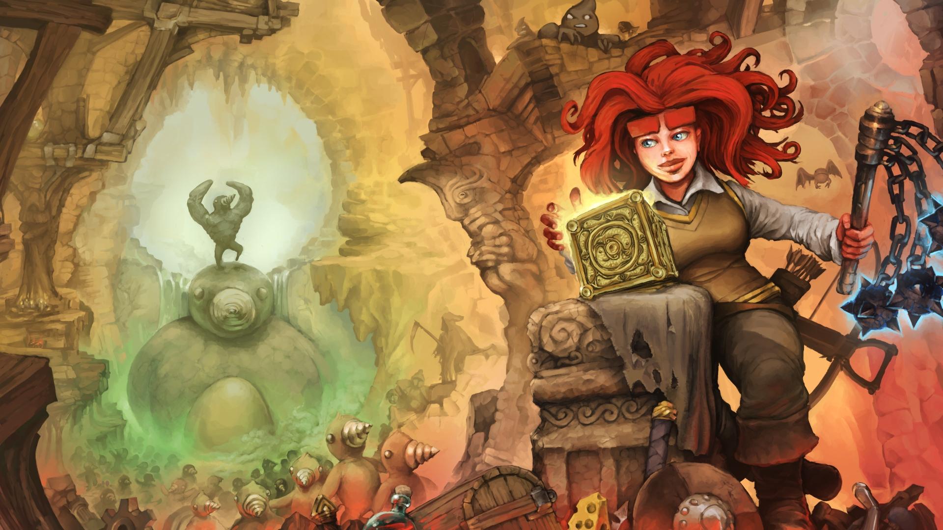 Dungeons Of Dredmor, Girl, Arm Wallpaper, HD Games 4K