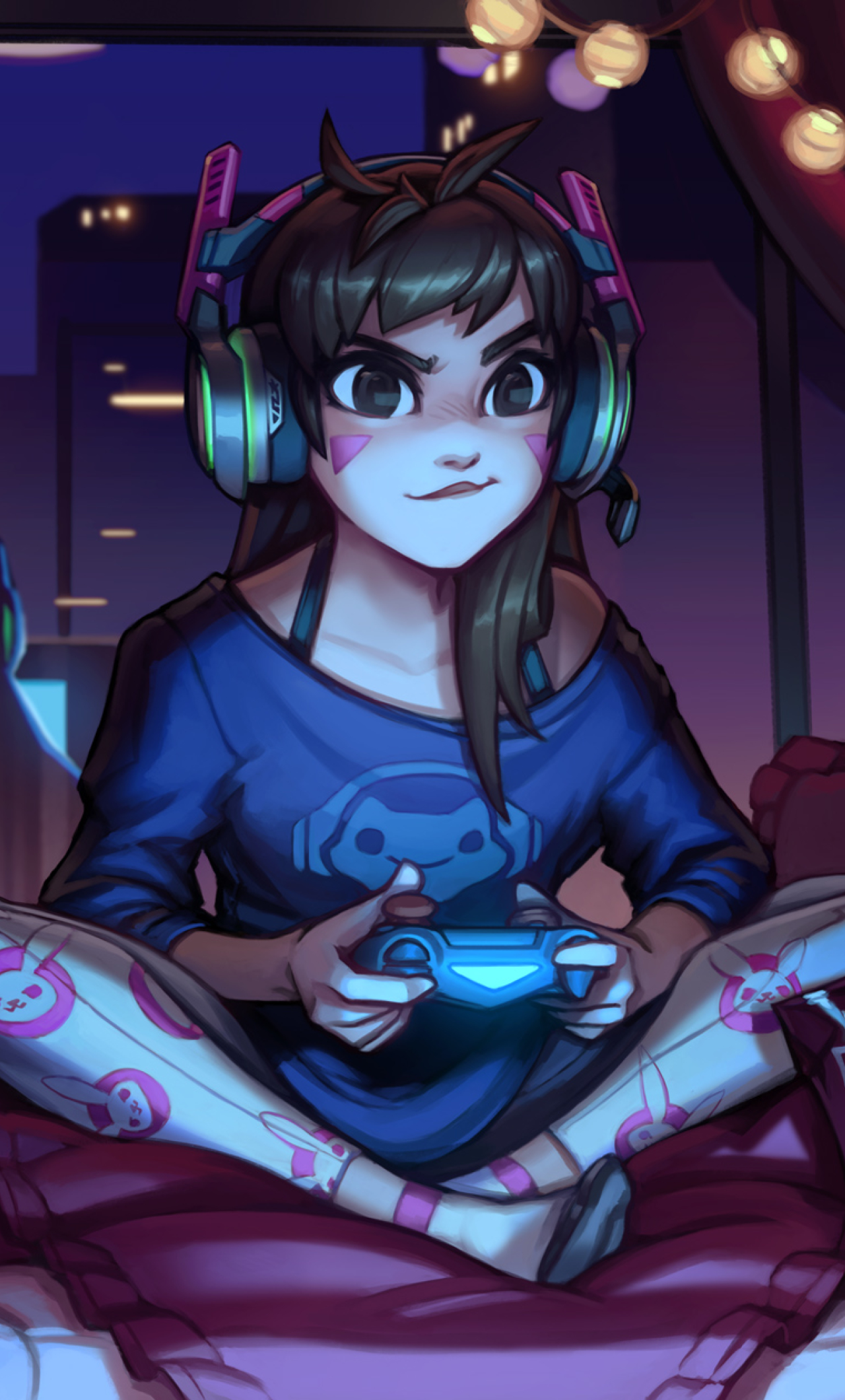 dva overwatch cute artwork  full hd 2k wallpaper