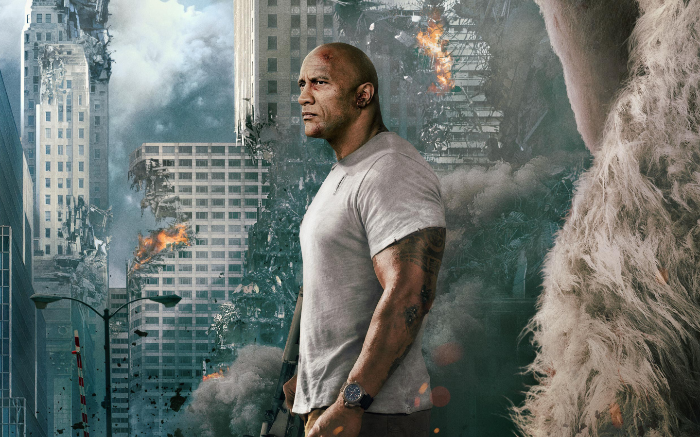 Rampage Movie Hd Wallpapers Download 1080p: Dwayne Johnson Rampage Movie 2018, Full HD 2K Wallpaper