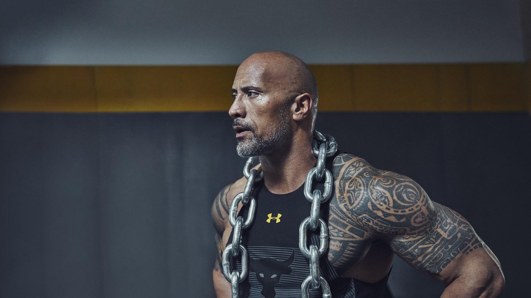 2048x1152 Dwayne Johnson Tattoos 2048x1152 Resolution