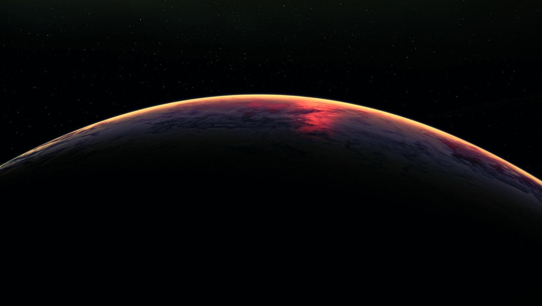 1360x768 Earth Atmosphere From Space Desktop Laptop Hd Wallpaper