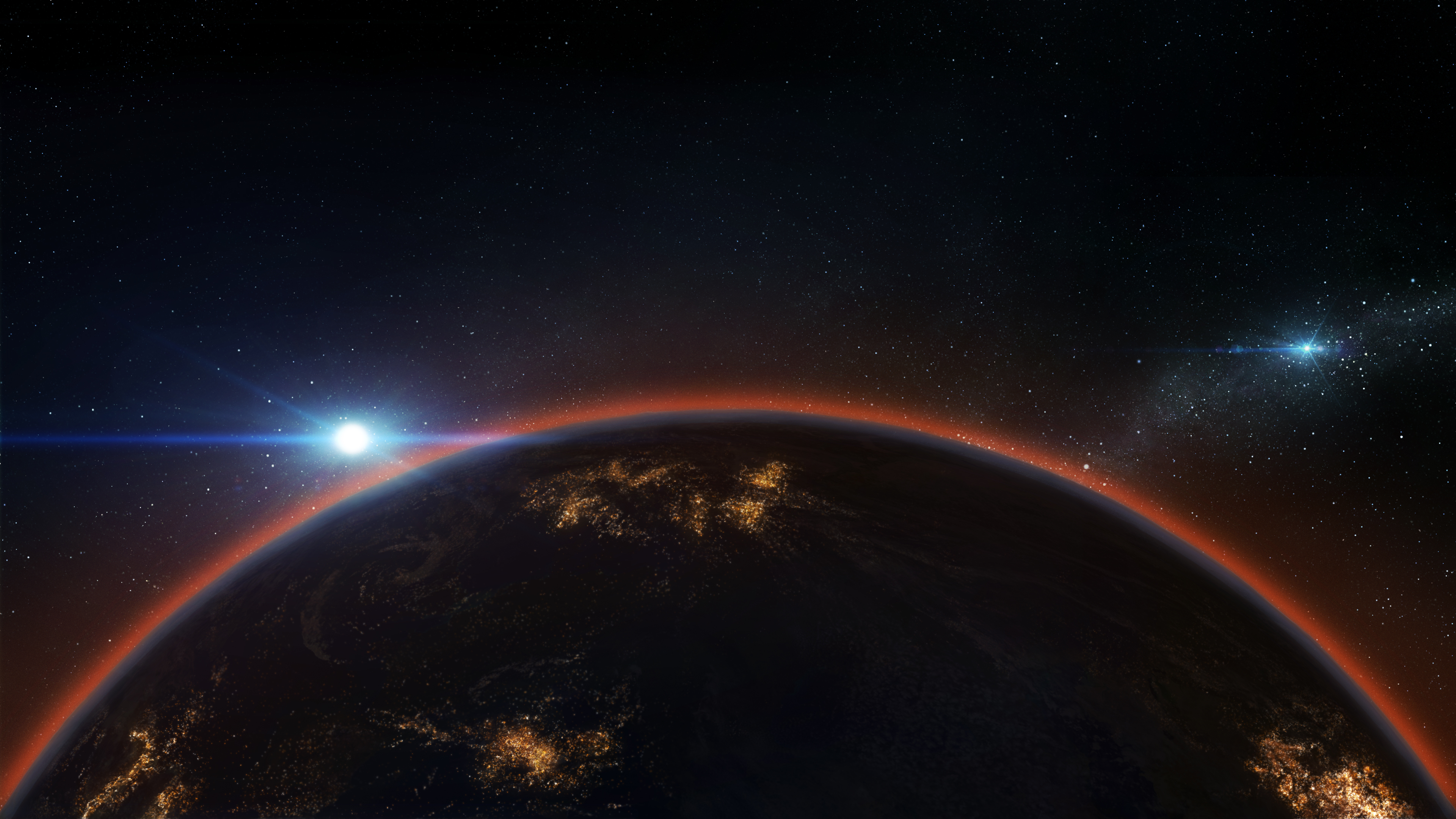 Earth Horizon Wallpaper, HD Space 4K Wallpapers, Images ...