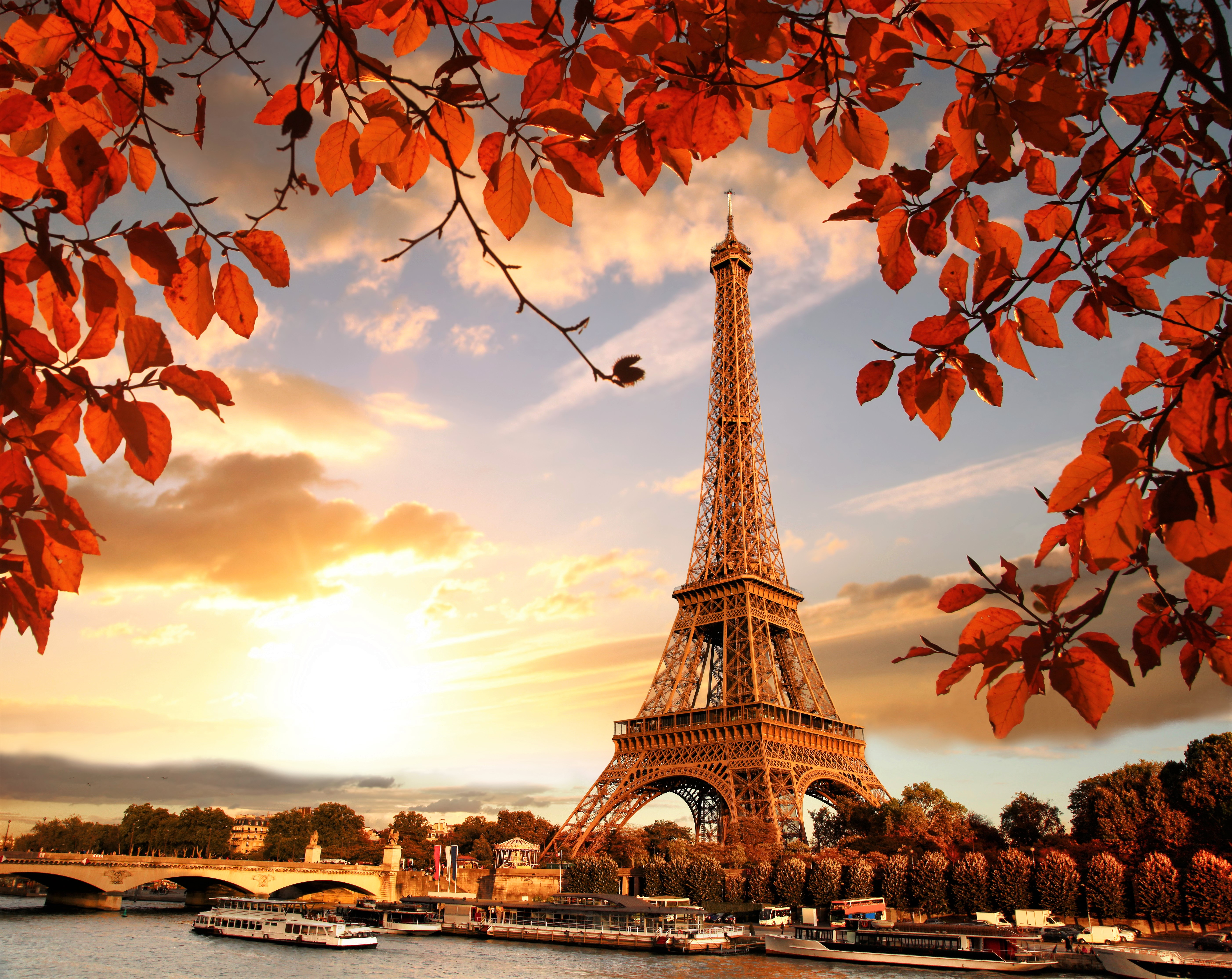 1680x1050 Eiffel Tower In Autumn France Paris Fall 1680x1050 Resolution Wallpaper Hd City 4k Wallpapers Images Photos And Background