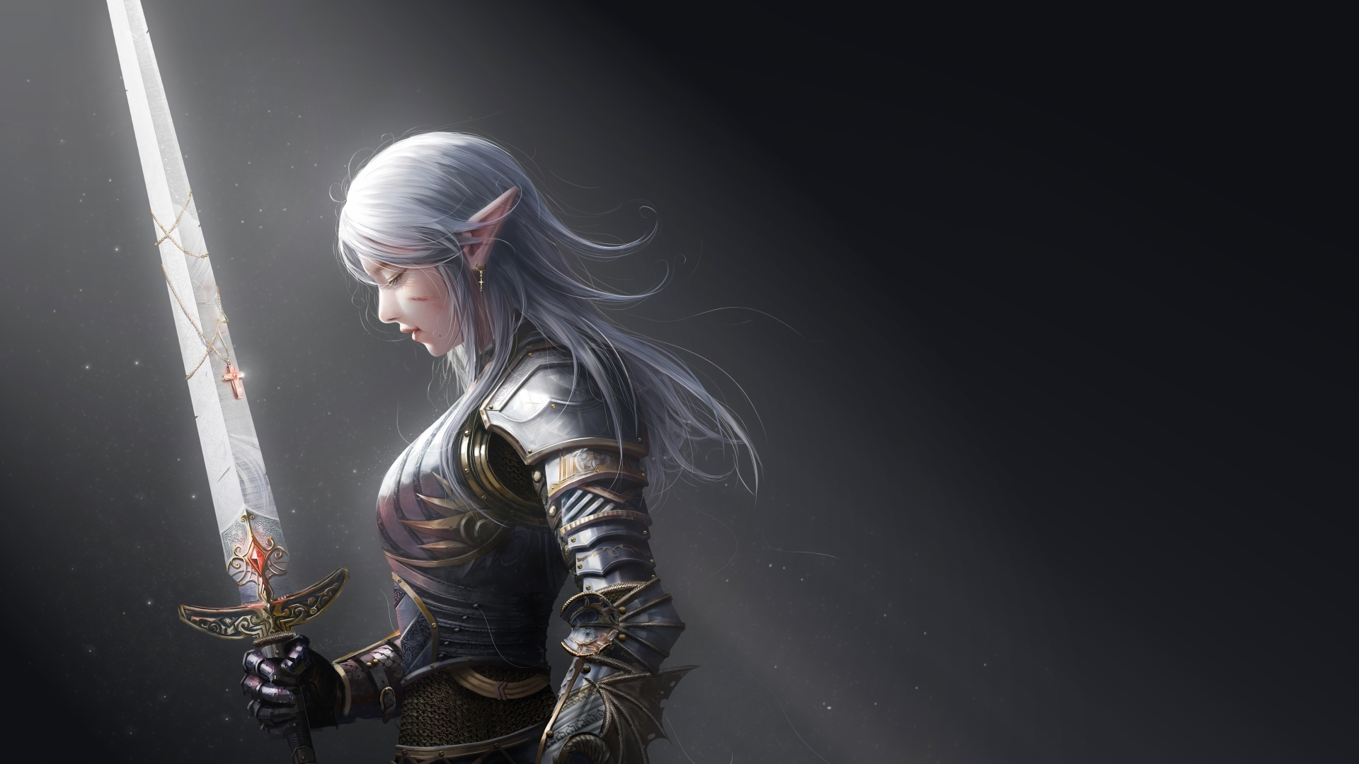 1920x1080 Elf Warrior 1080p Laptop Full Hd Wallpaper Hd Fantasy 4k Wallpapers Images Photos And Background