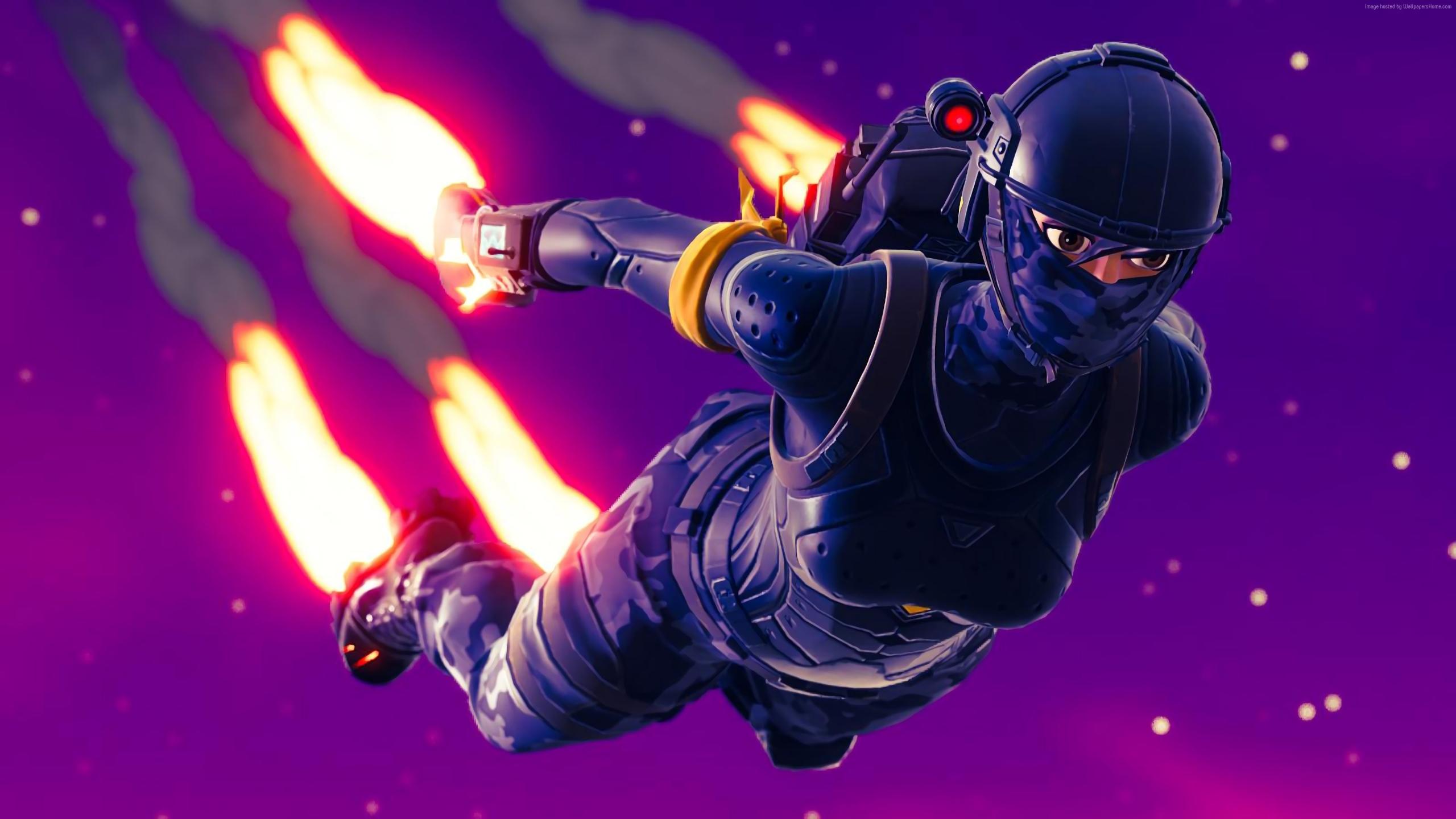 2560x1440 Elite Agent Skydiving Fortnite Battle Royale