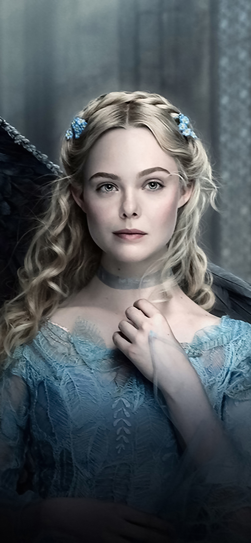 1125x2436 Elle Fanning In Maleficent 2 As Princess Aurora