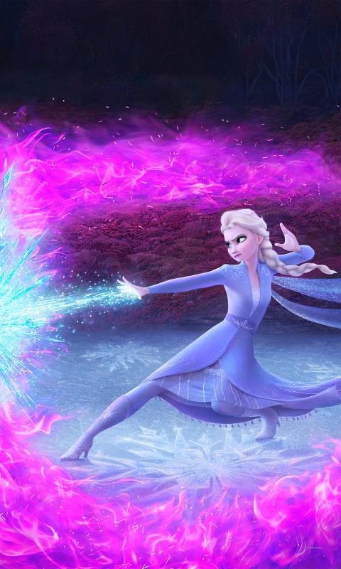 480x800 Elsa In Frozen 2 Galaxy Note Htc Desire Nokia Lumia 520