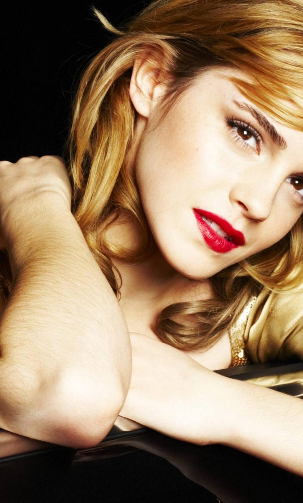 Download Emma Watson In Car Photoshoot 1280x2120 Resolution Full