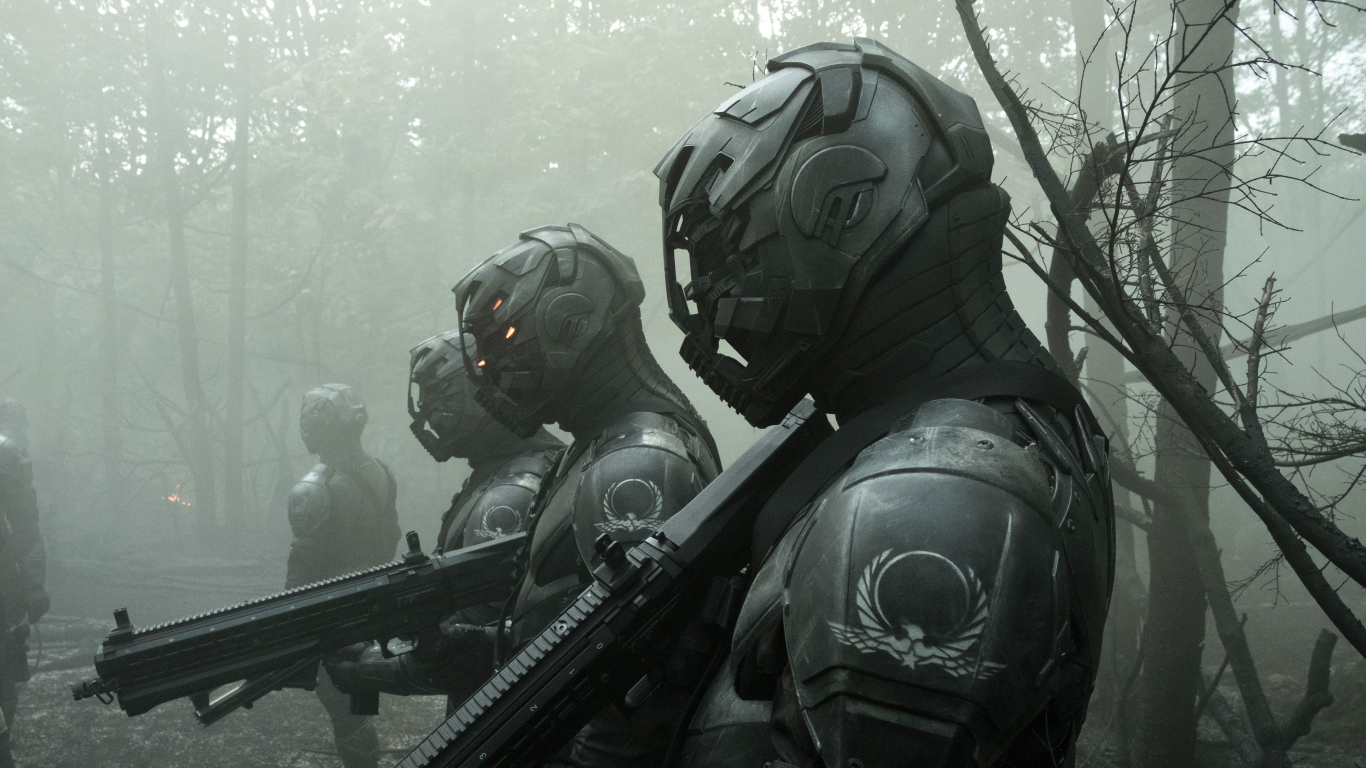 Envoys from Altered Carbon Wallpaper in 1366x768 Resolution