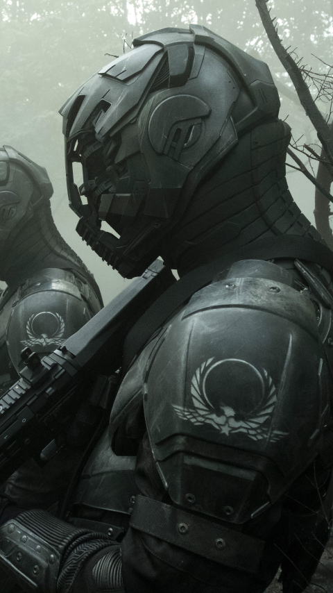 Envoys from Altered Carbon Wallpaper in 480x854 Resolution