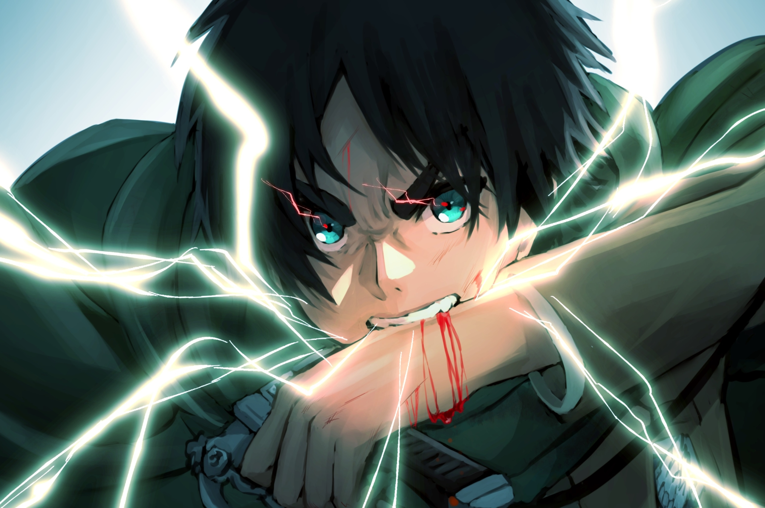 2560x1700 Eren Yeager Anime Art 4k Chromebook Pixel Wallpaper Hd Anime 4k Wallpapers Images Photos And Background