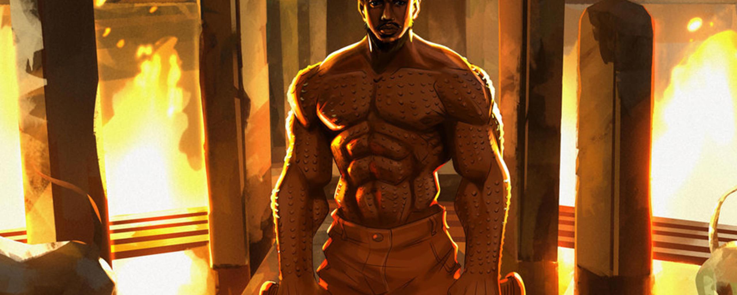 Erik Killmonger Michael Jordan Artwork, Full HD Wallpaper