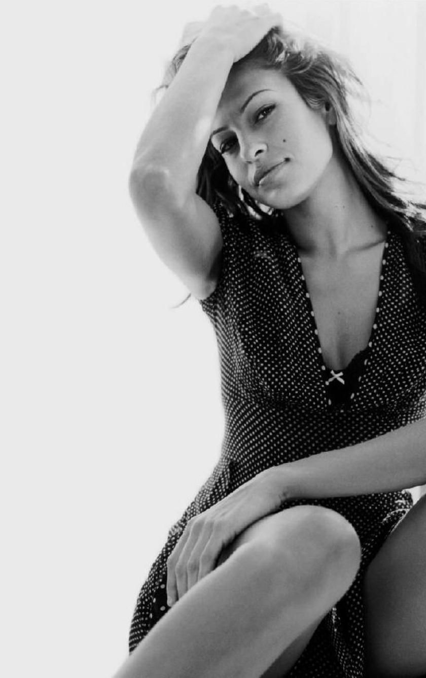 eva mendes black and white photoshot photoshoot, hd wallpaper