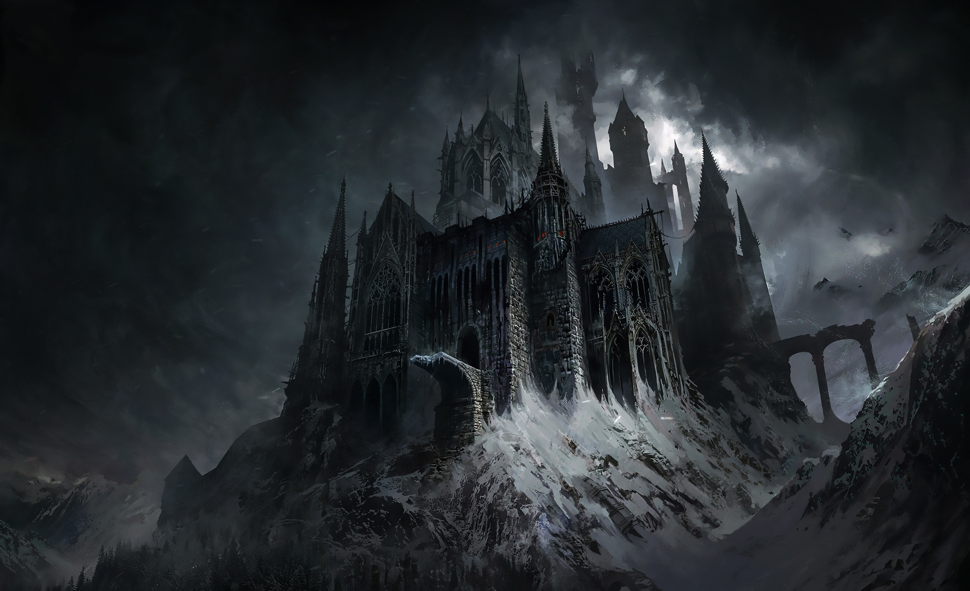 Evil Castle Dark Fantasy Wallpaper Hd Fantasy 4k Wallpapers