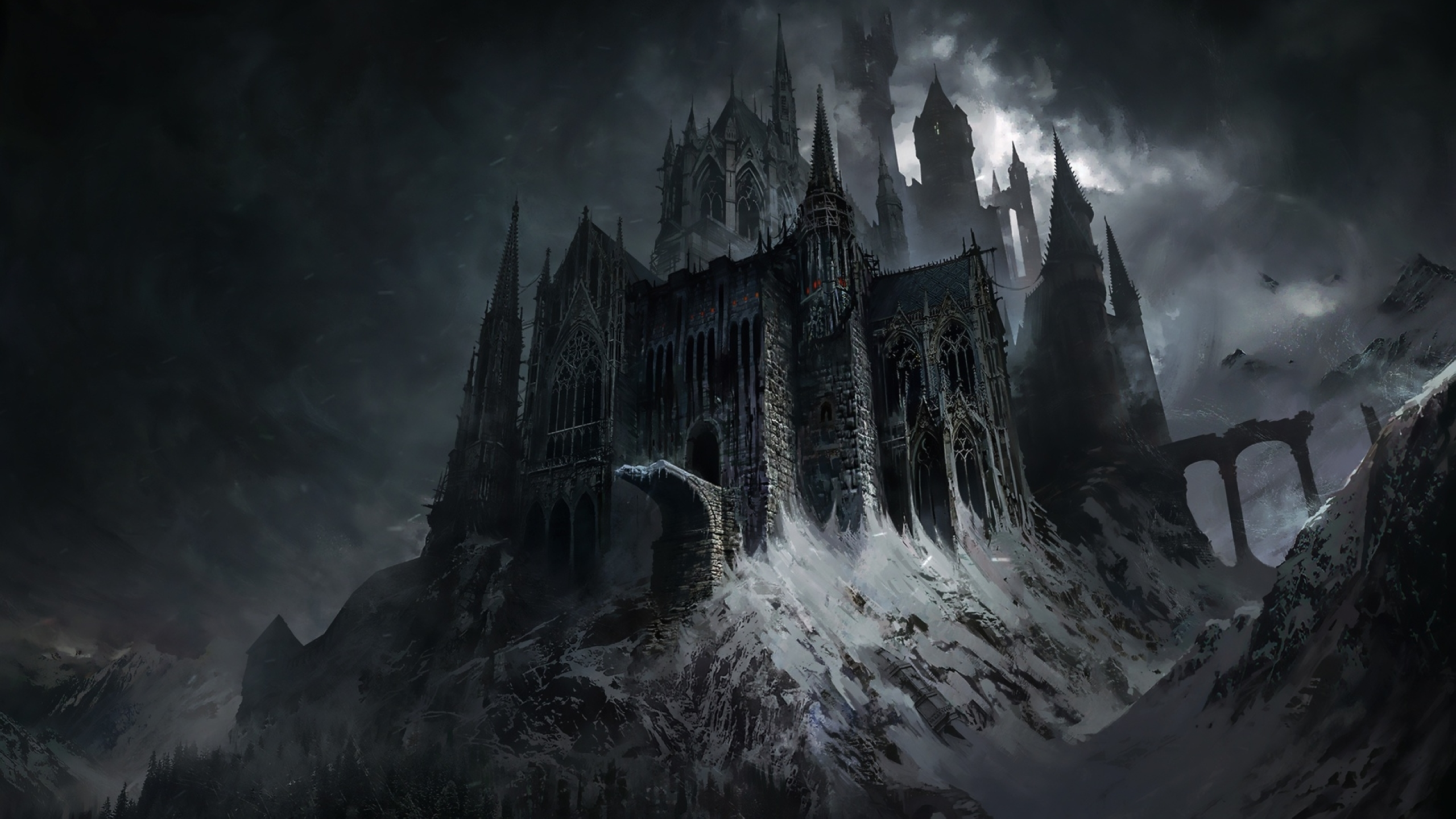 2560x1440 Evil Castle Dark Fantasy 1440p Resolution Wallpaper Hd Fantasy 4k Wallpapers Images Photos And Background