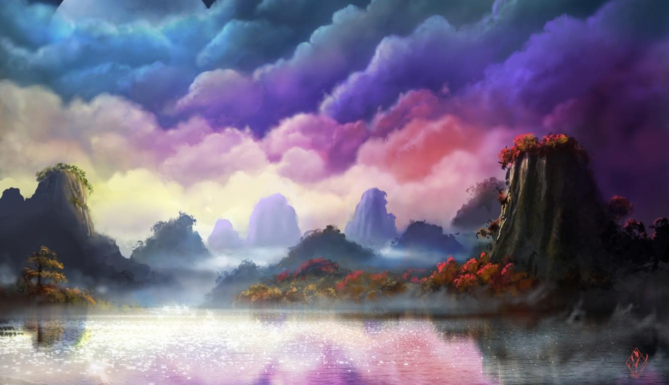 1336x768 Fantasy Forest HD Laptop Wallpaper, HD Fantasy 4K ...