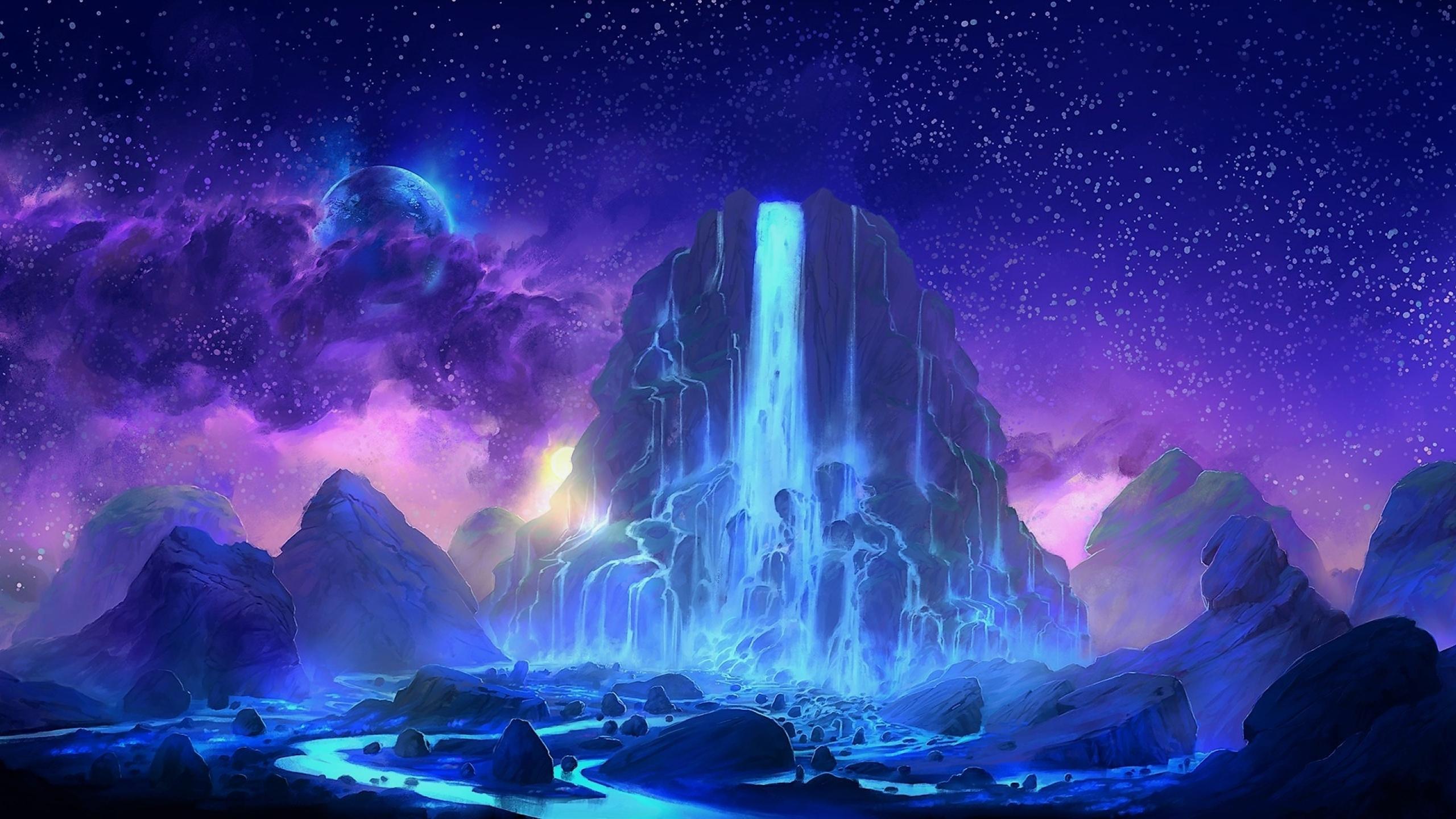 2k Hd Wallpapers: Fantasy Waterfall, Full HD 2K Wallpaper