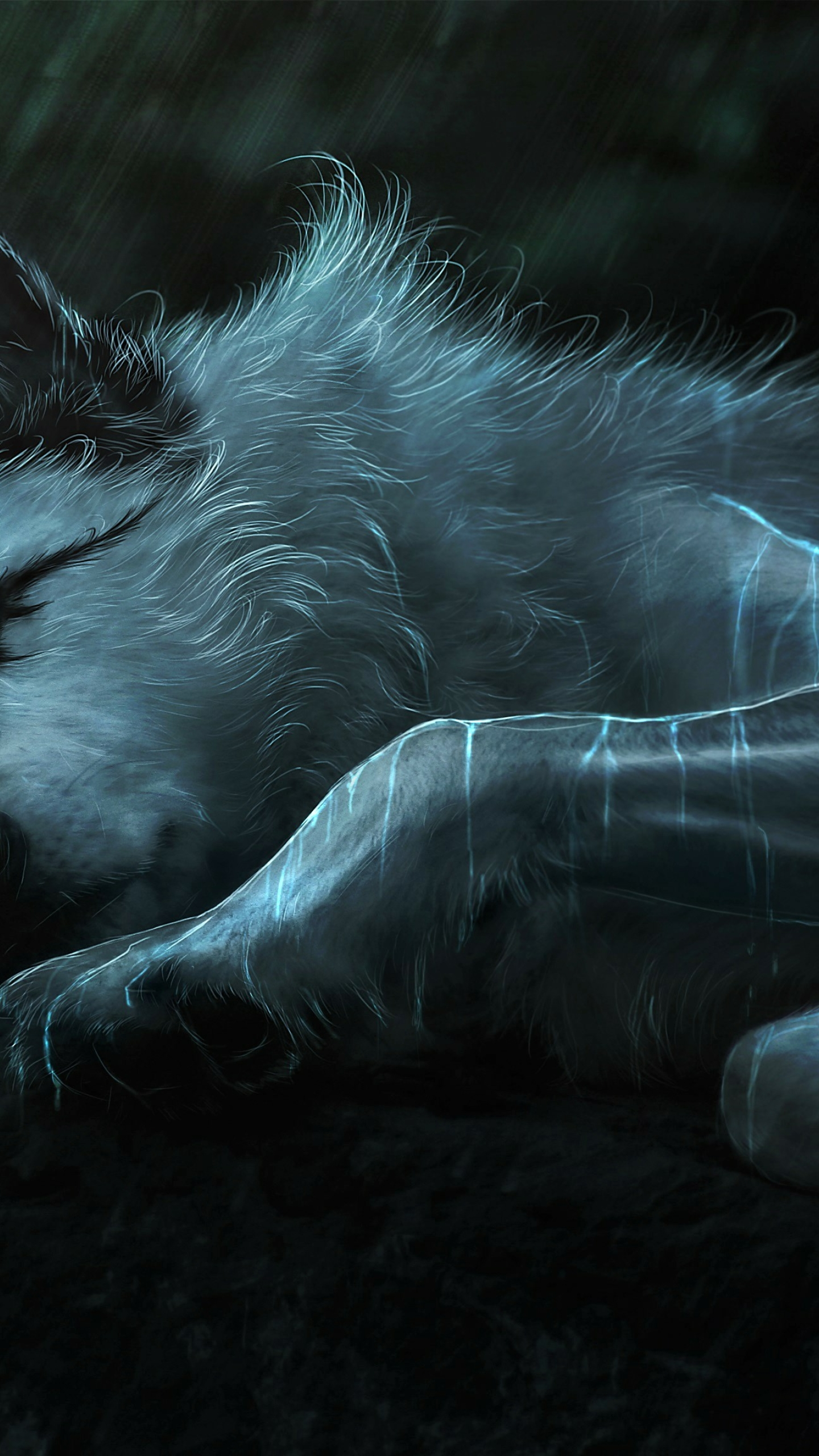 Download Fantasy Wolf Painting 320x240 Resolution, HD 4K
