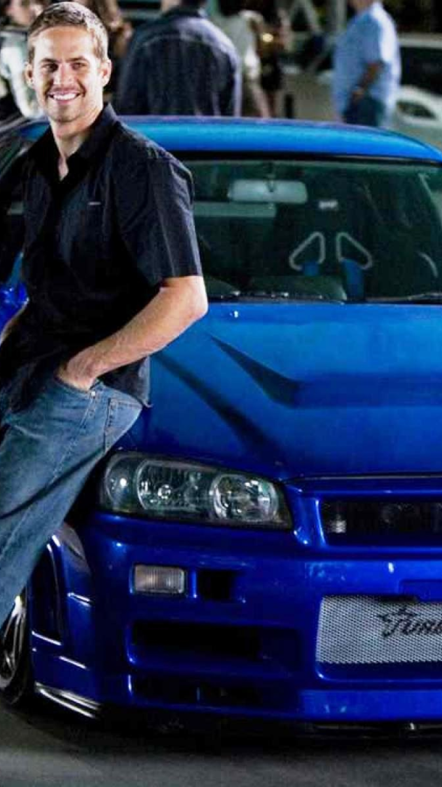 1440x2560 Fast And Furious Paul Walker Blue Car Wallpaper Samsung