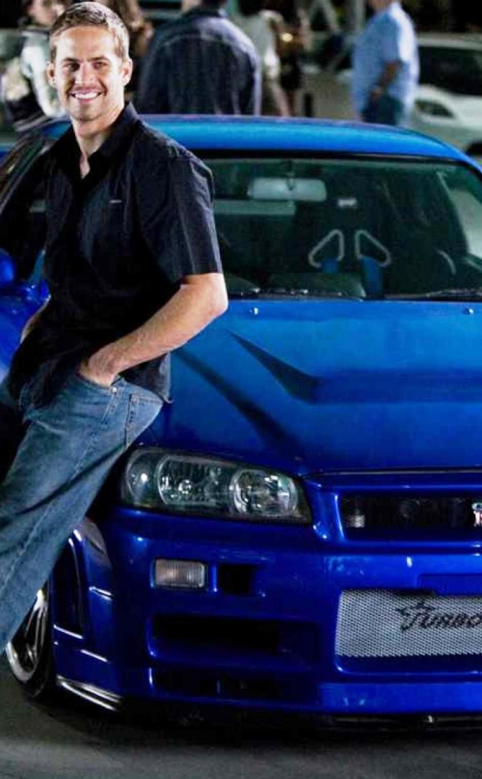 fast and furious paul walker blue car photoshoot full hd