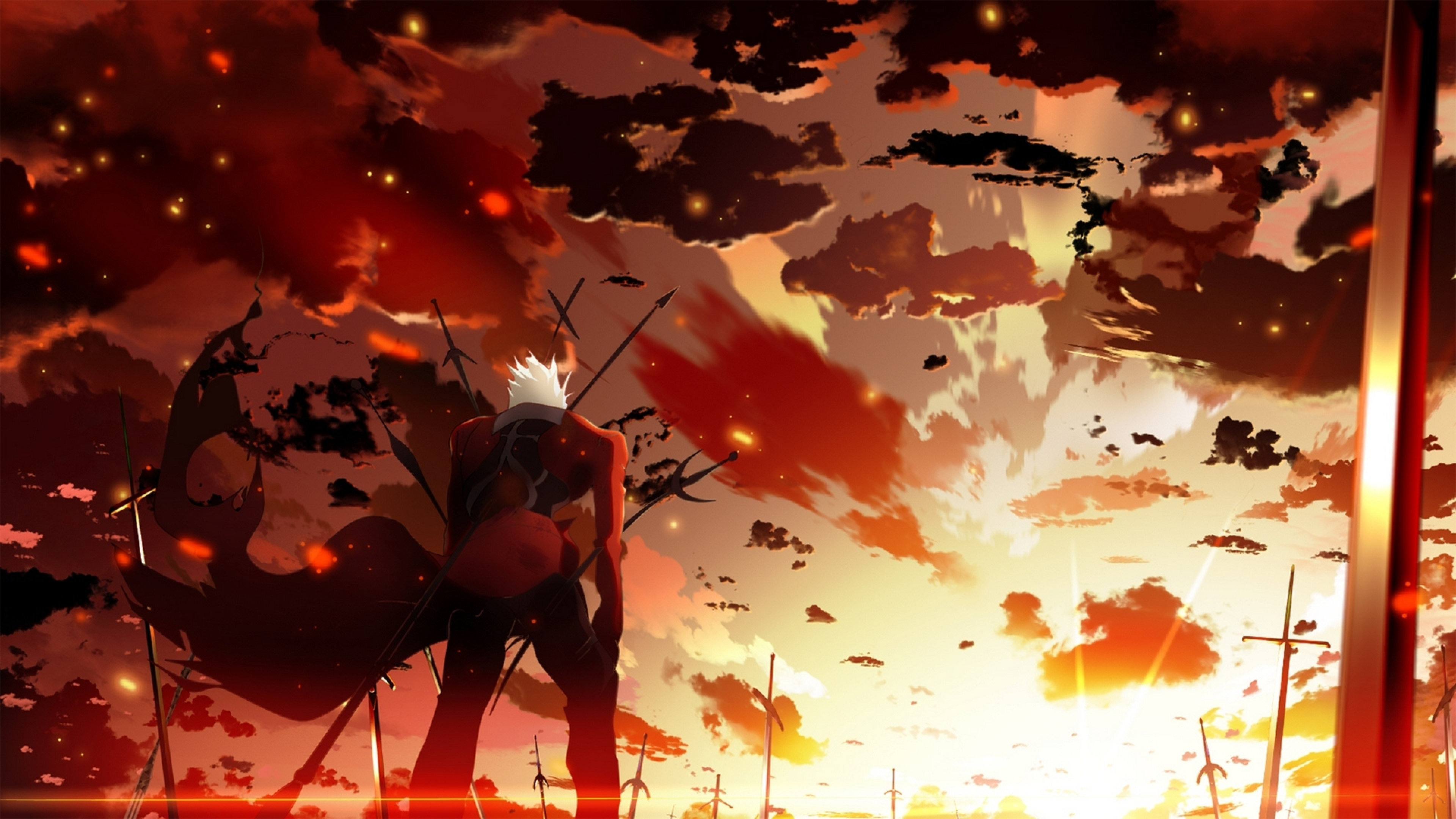 3840x2160 Fate Stay Night Archer Sunset 4k Wallpaper Hd Anime