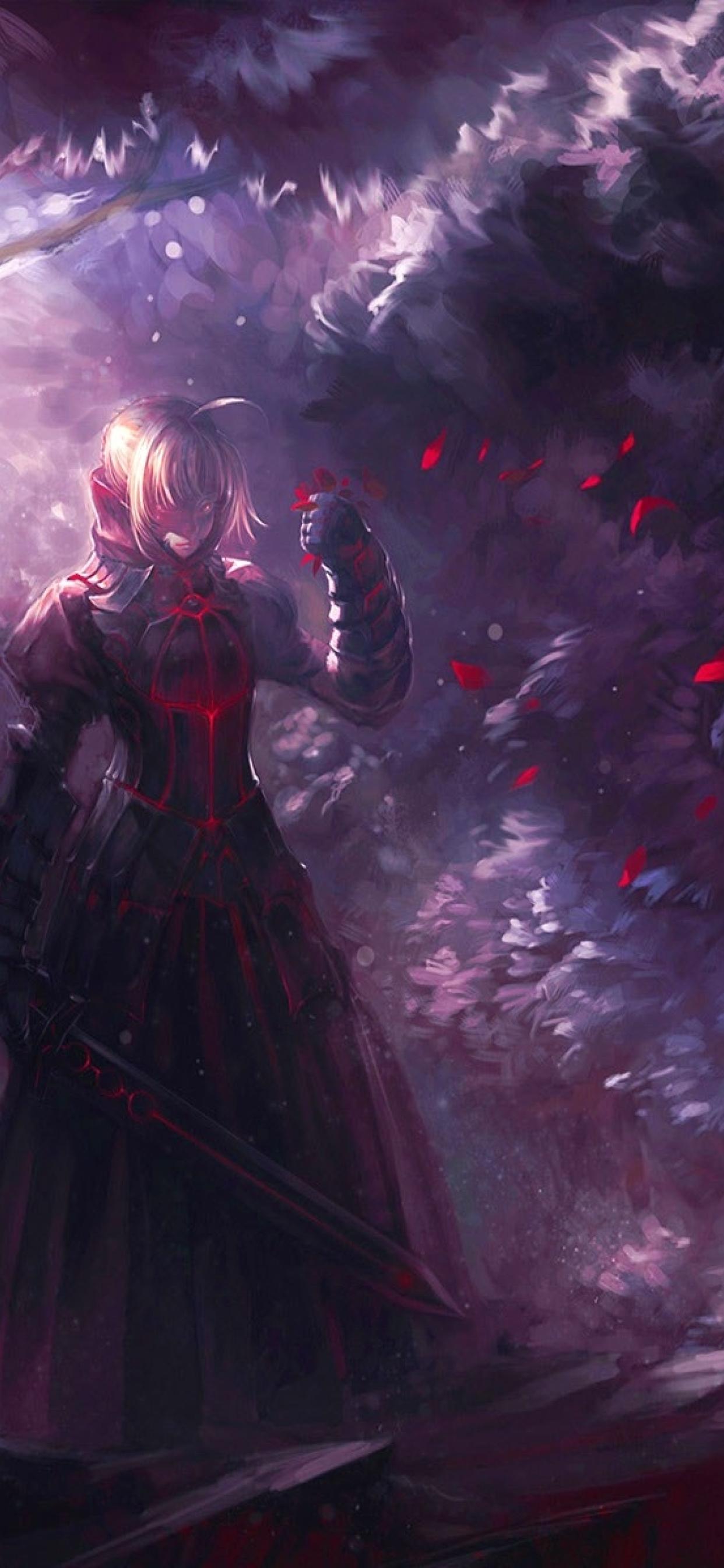 1242x2688 Fate Zero Saber Iphone Xs Max Wallpaper Hd Anime 4k