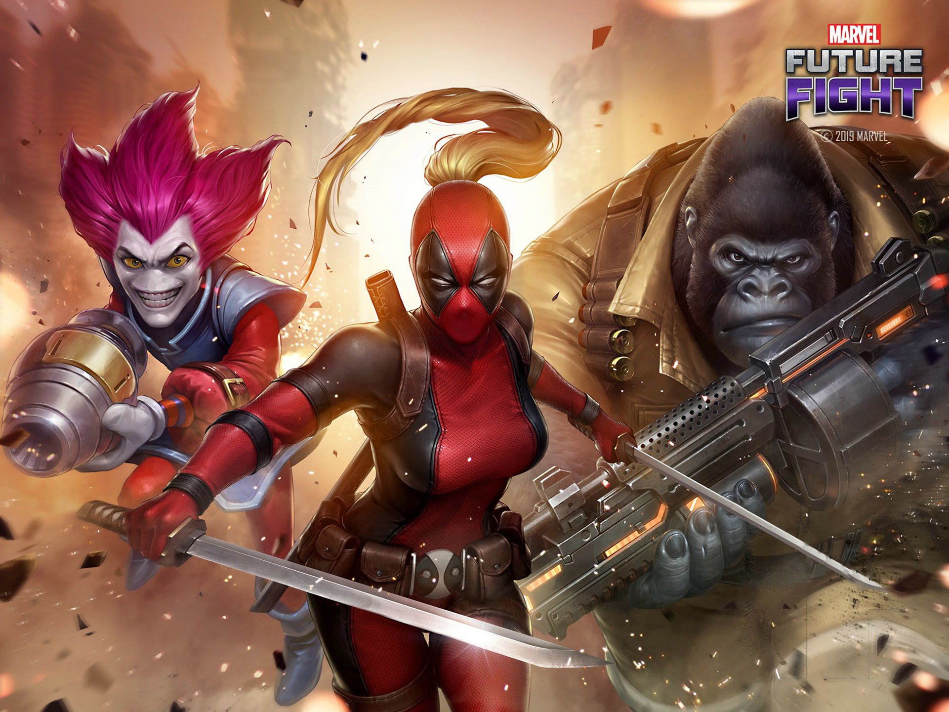 Female Deadpool Marvel Future Fight Wallpaper Hd Games 4k