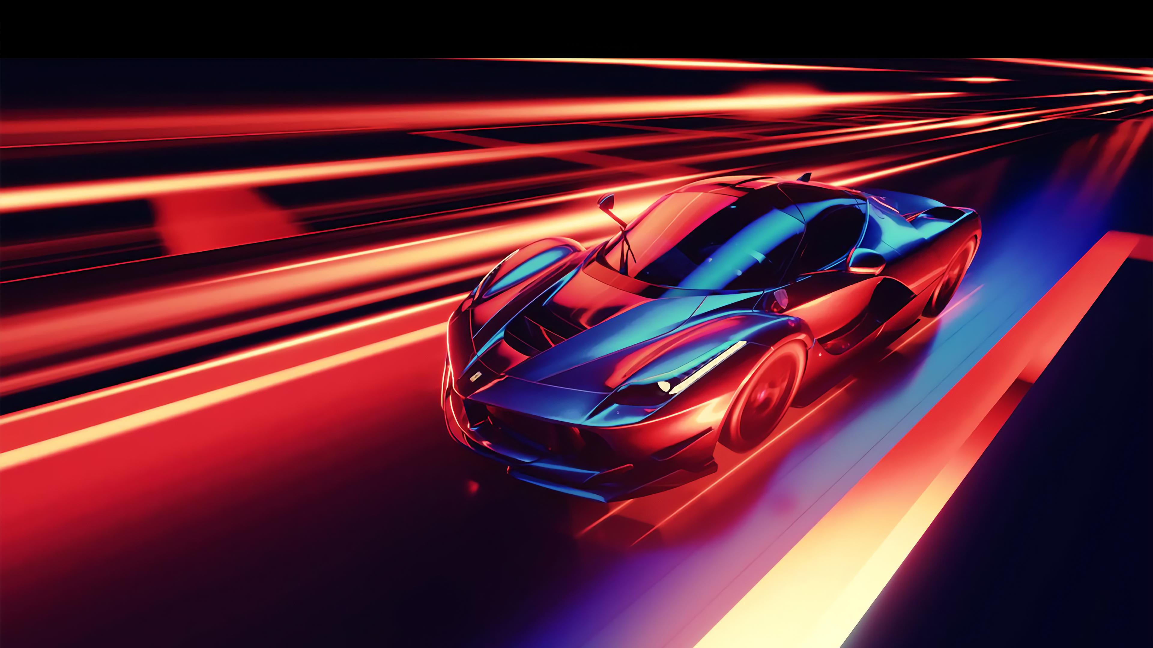 1920x1080 Ferrari Neon 1080p Laptop Full Hd Wallpaper Hd Artist 4k Wallpapers Images Photos And Background