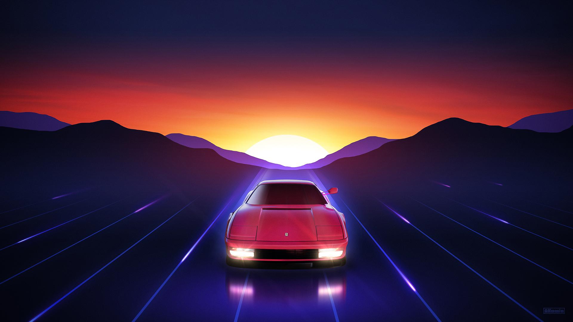 2560x1600 Ferrari Testarossa Sunrise 2560x1600 Resolution Wallpaper Hd Artist 4k Wallpapers Images Photos And Background