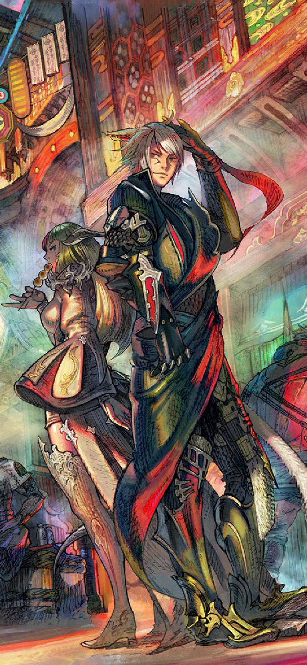 1242x2688 Final Fantasy 14 Stormblood Iphone Xs Max Wallpaper Hd