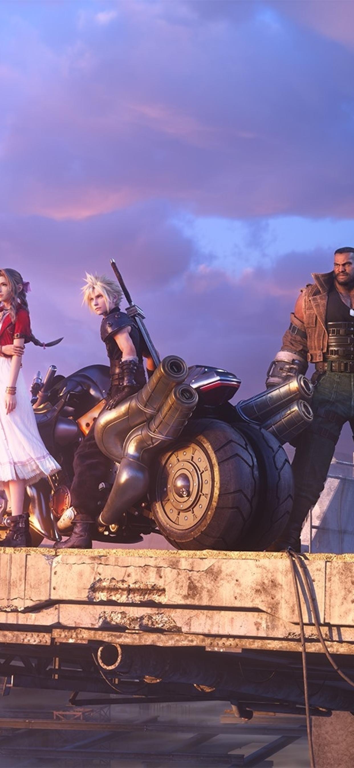1242x2688 Final Fantasy 7 Remake Team Iphone XS MAX ...