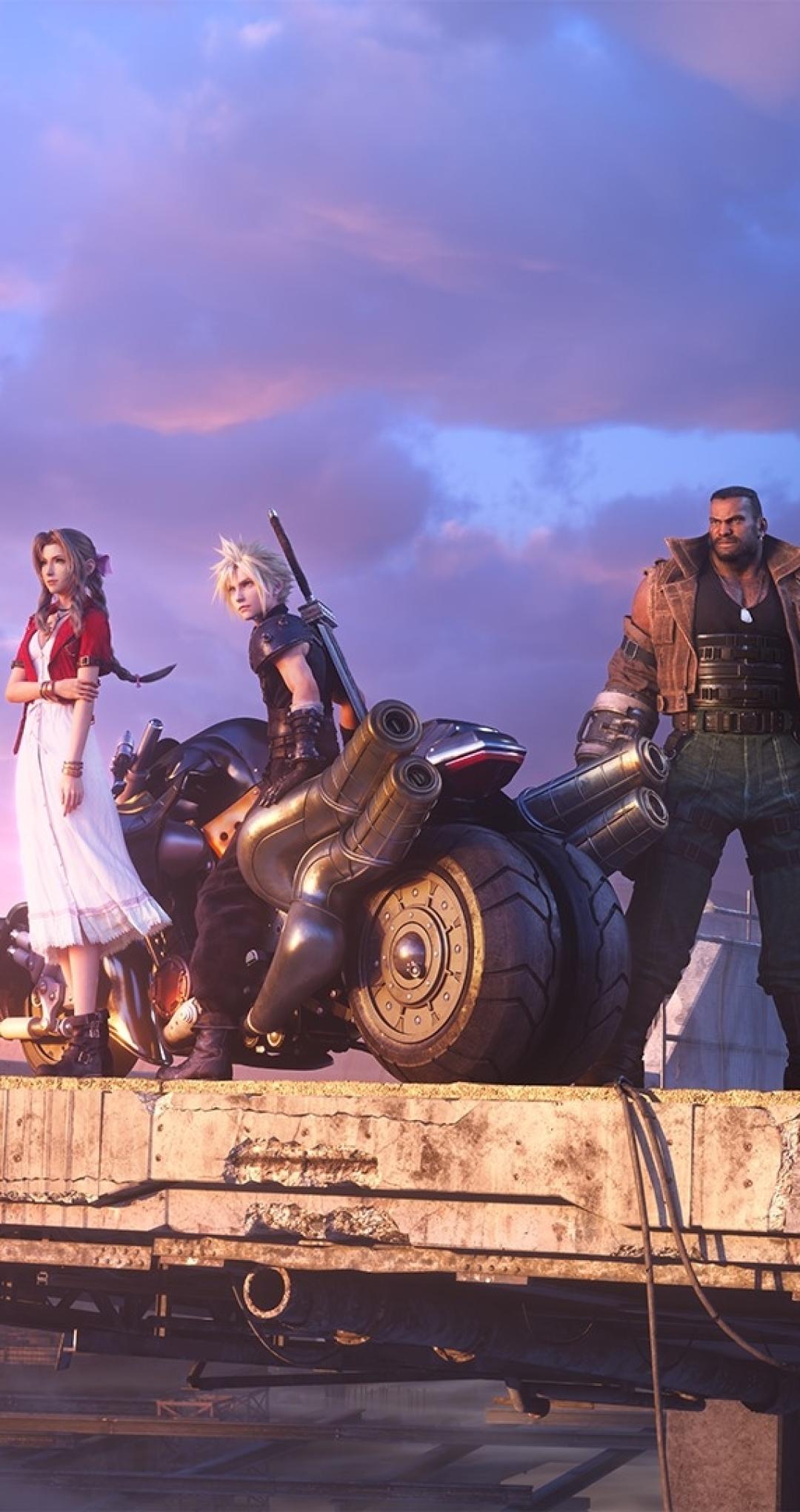 1080x2040 Final Fantasy 7 Remake Team 1080x2040 Resolution ...