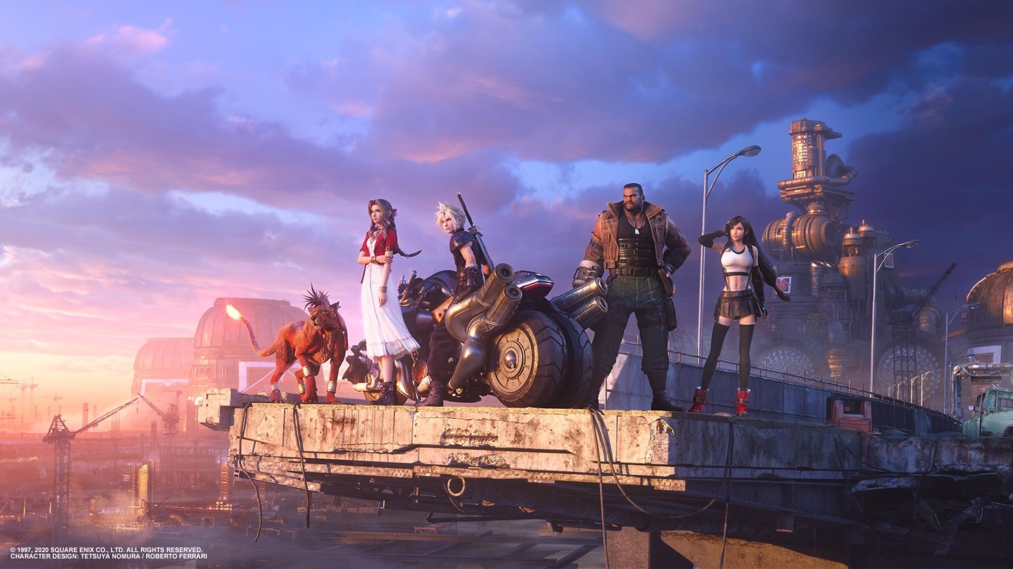 2048x1152 Final Fantasy 7 Remake Team 2048x1152 Resolution ...