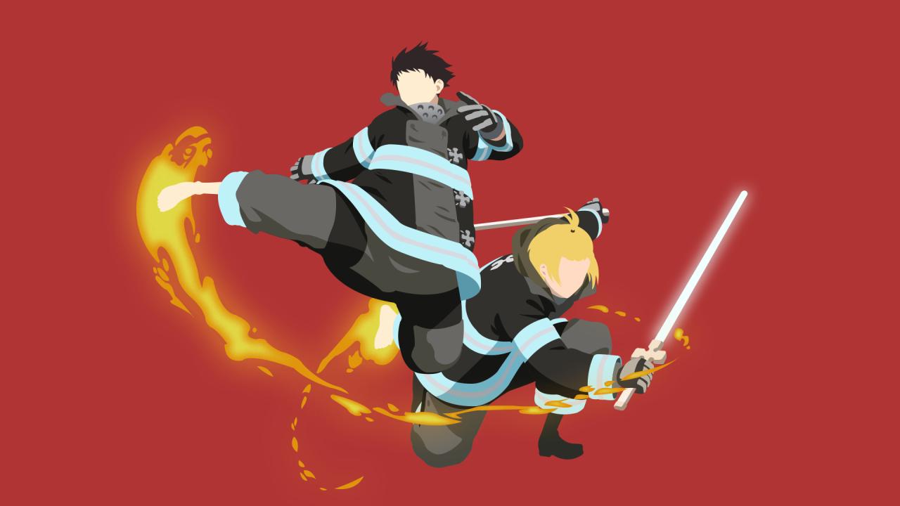 1280x720 Fire Force Anime 720P Wallpaper, HD Minimalist 4K ...