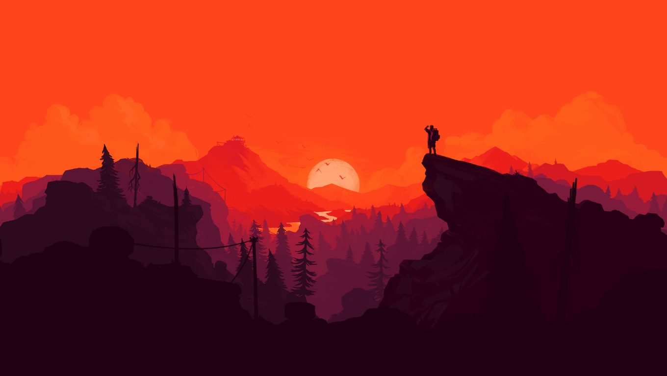 1360x768 Firewatch Digital Art Desktop Laptop Hd Wallpaper Hd Artist 4k Wallpapers Images Photos And Background