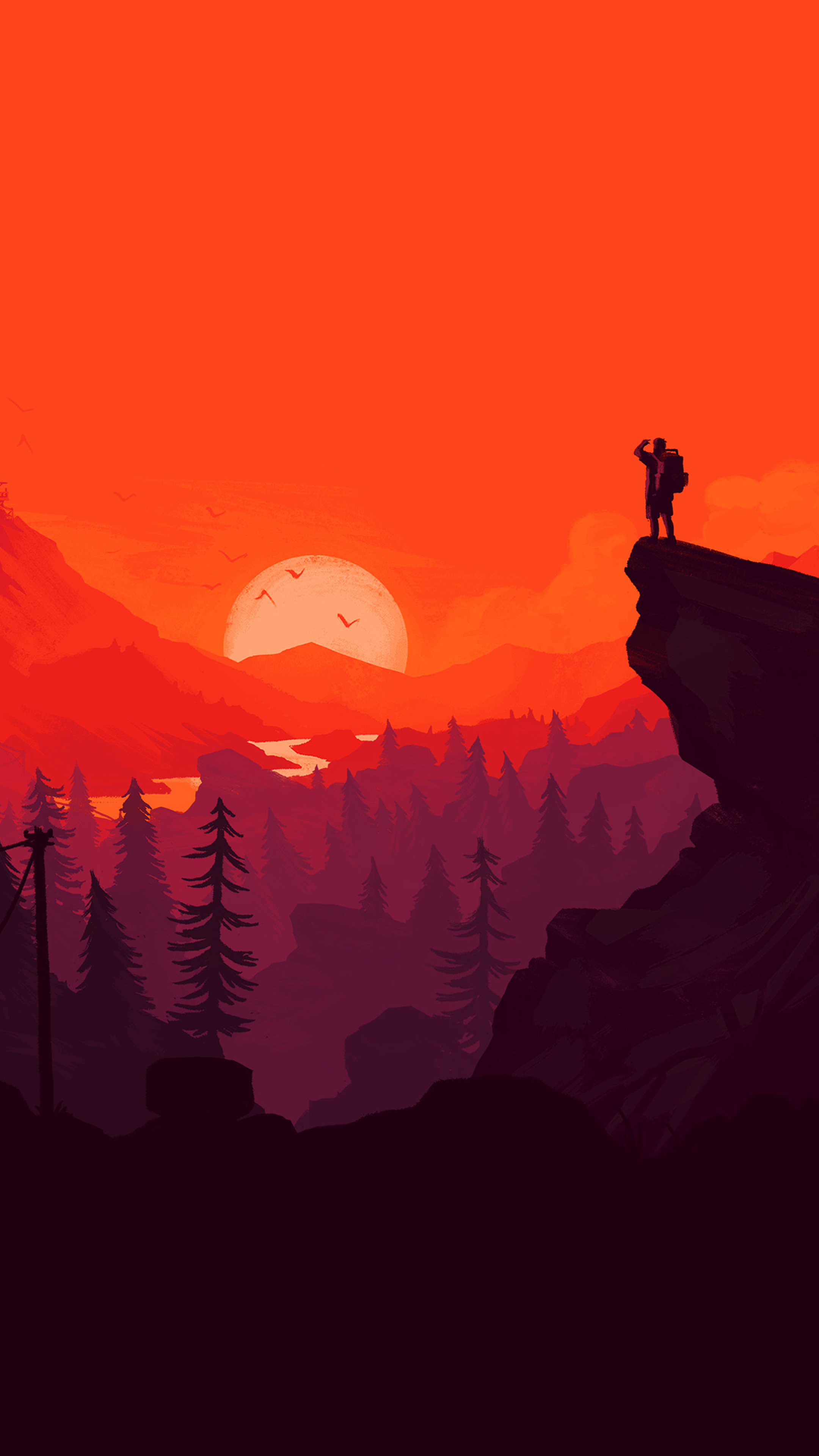2160x3840 Firewatch Digital Art Sony Xperia X Xz Z5 Premium Wallpaper Hd Artist 4k Wallpapers Images Photos And Background