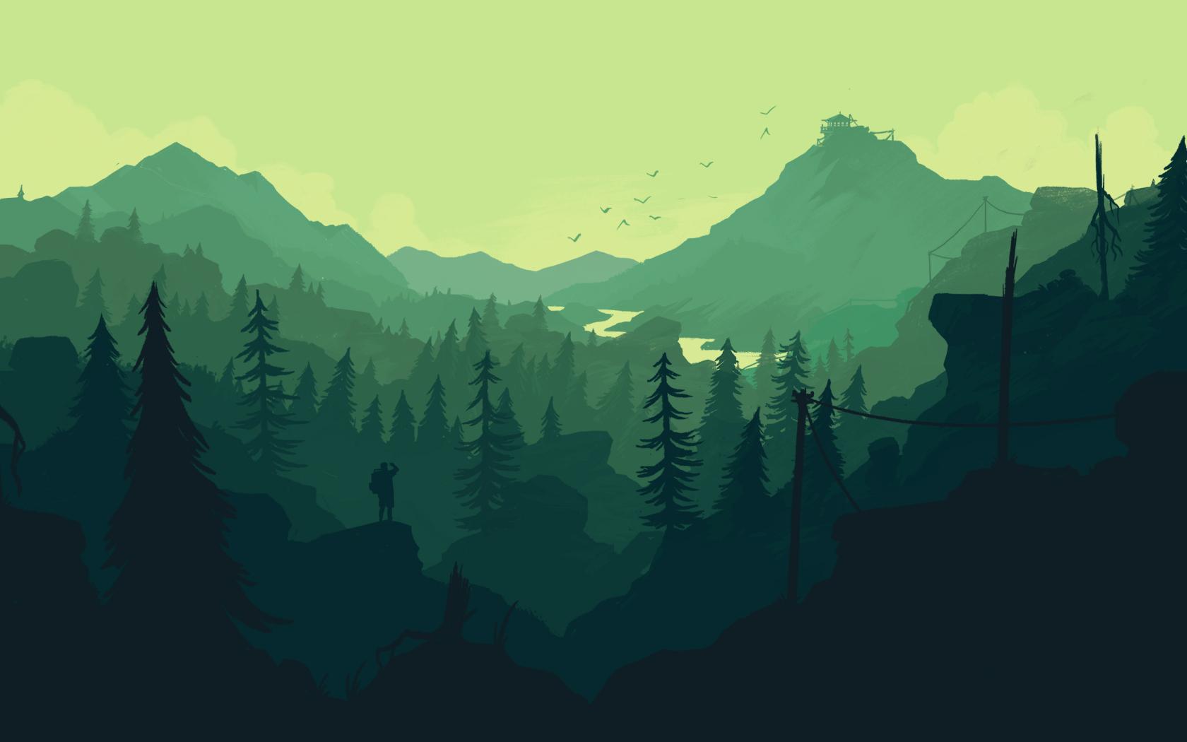 Best Ps Vita Games >> Firewatch Forest Digital Art, Full HD 2K Wallpaper