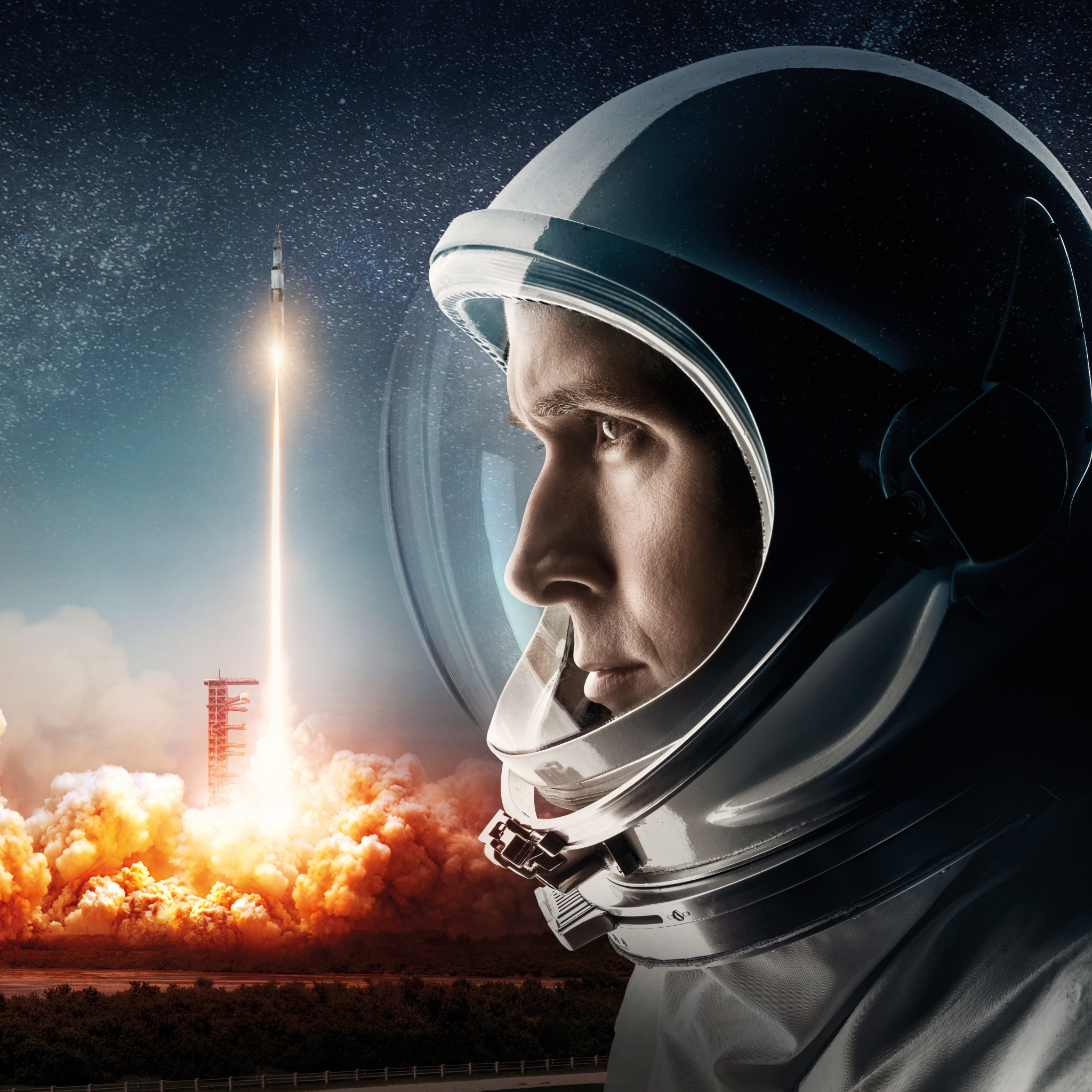 2048x2048 First Man Movie Official Poster 2018 Ipad Air